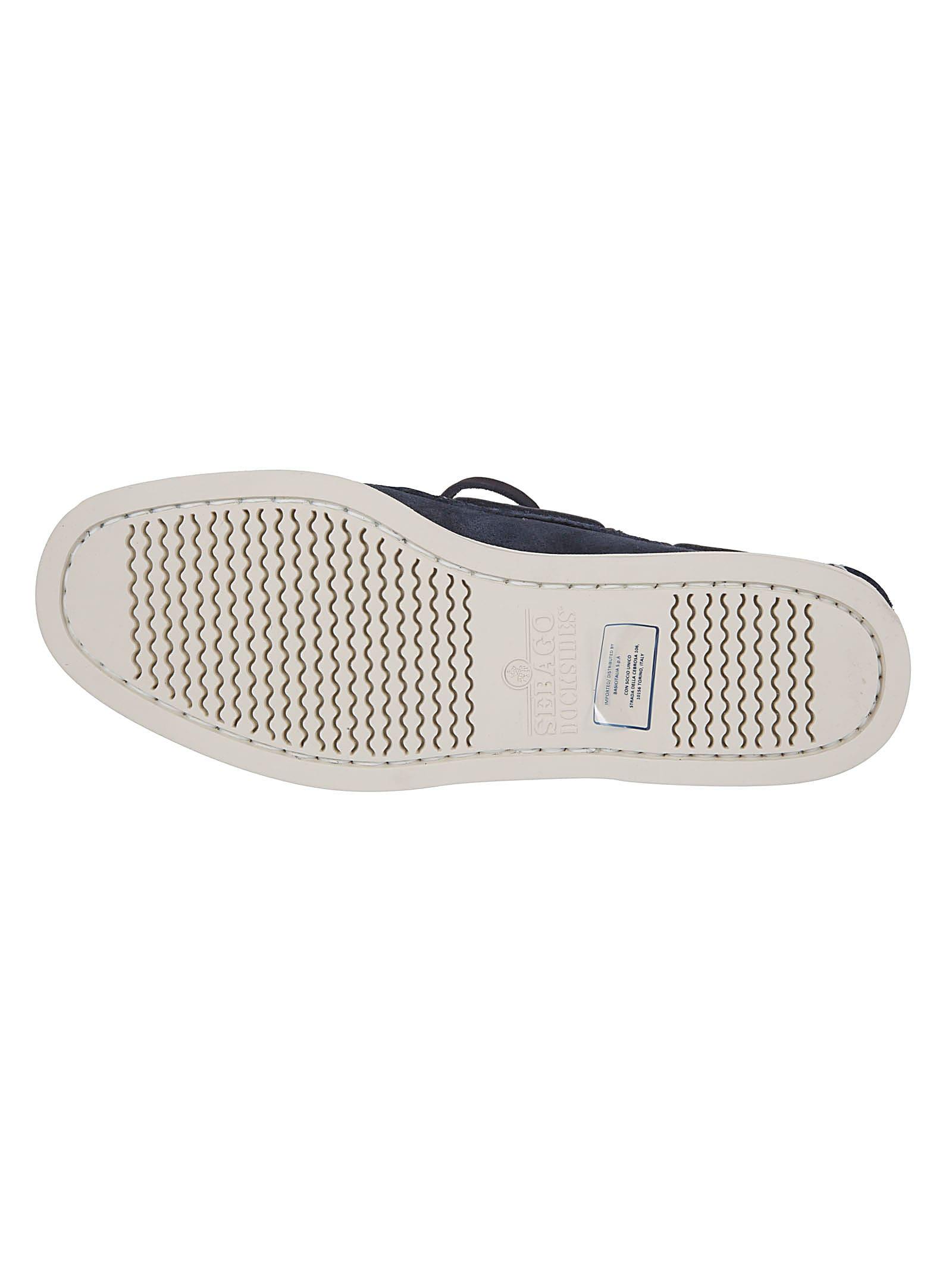 reputable site 279a3 427cc Sebago Sebago Logo Patch Boat Shoes - Blu navy - 10892163 ...