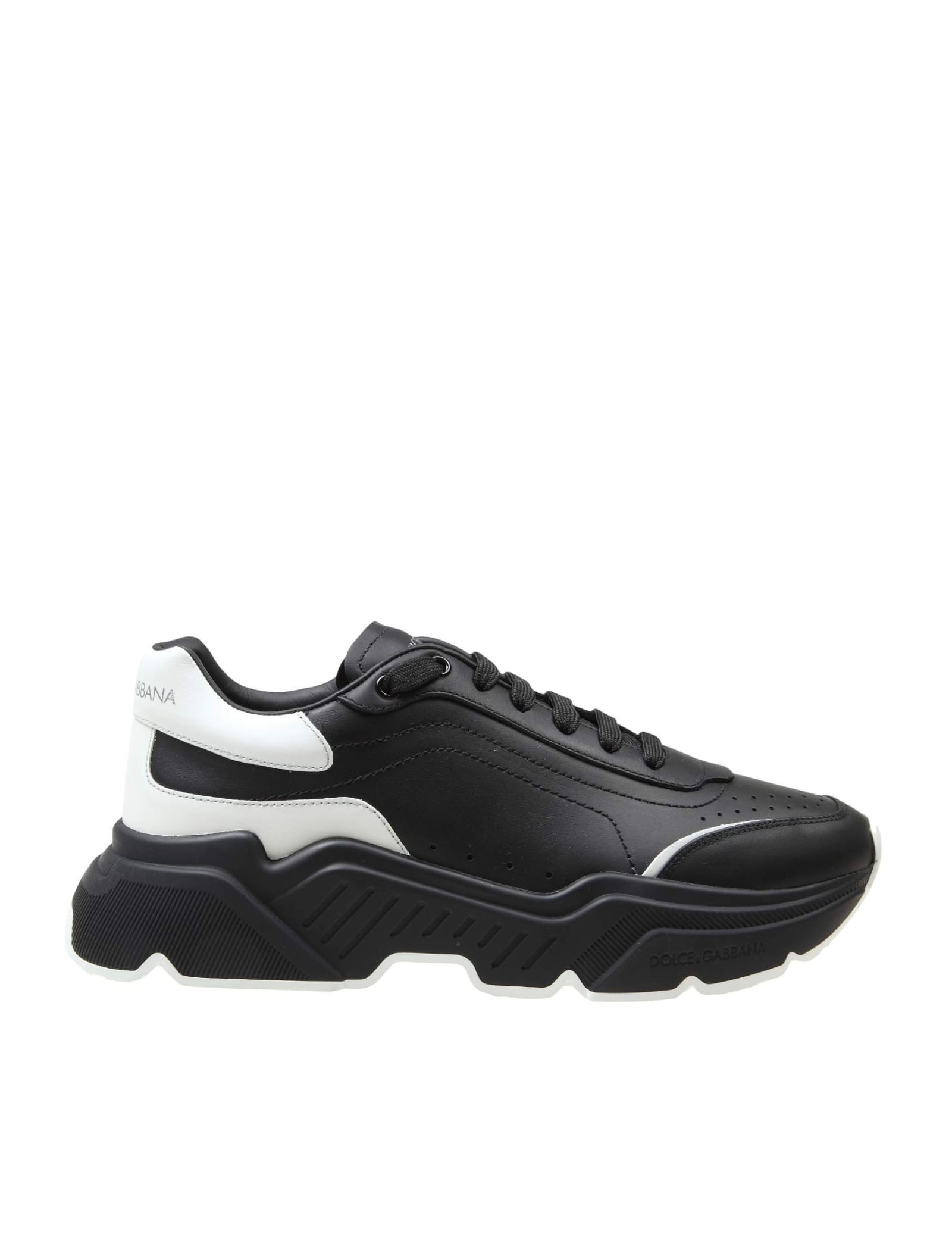 Dolce & Gabbana BLACK LEATHER DAYMASTER SNEAKERS
