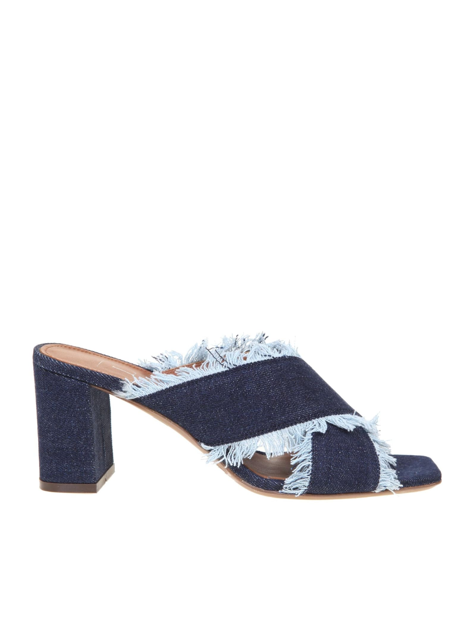 L'autre Chose SANDAL IN BLUE JEANS