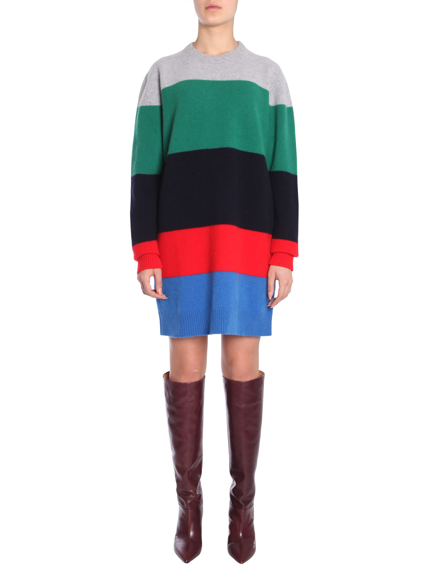 Buy Dsquared2 Maxi Striped Dress online, shop Dsquared2 with free shipping