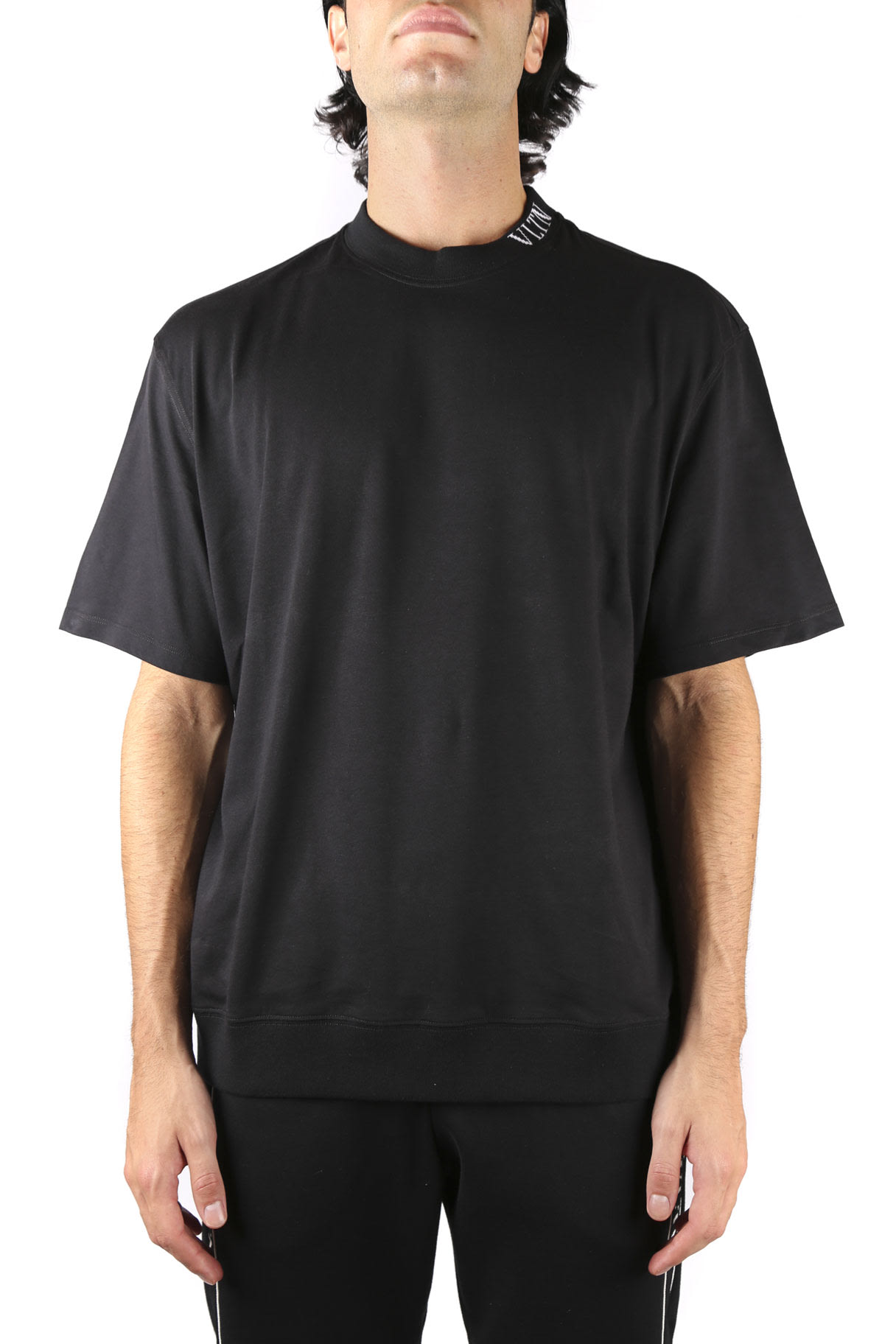 Valentino Cotton T-shirt With Contrasting Color Vltn Logo