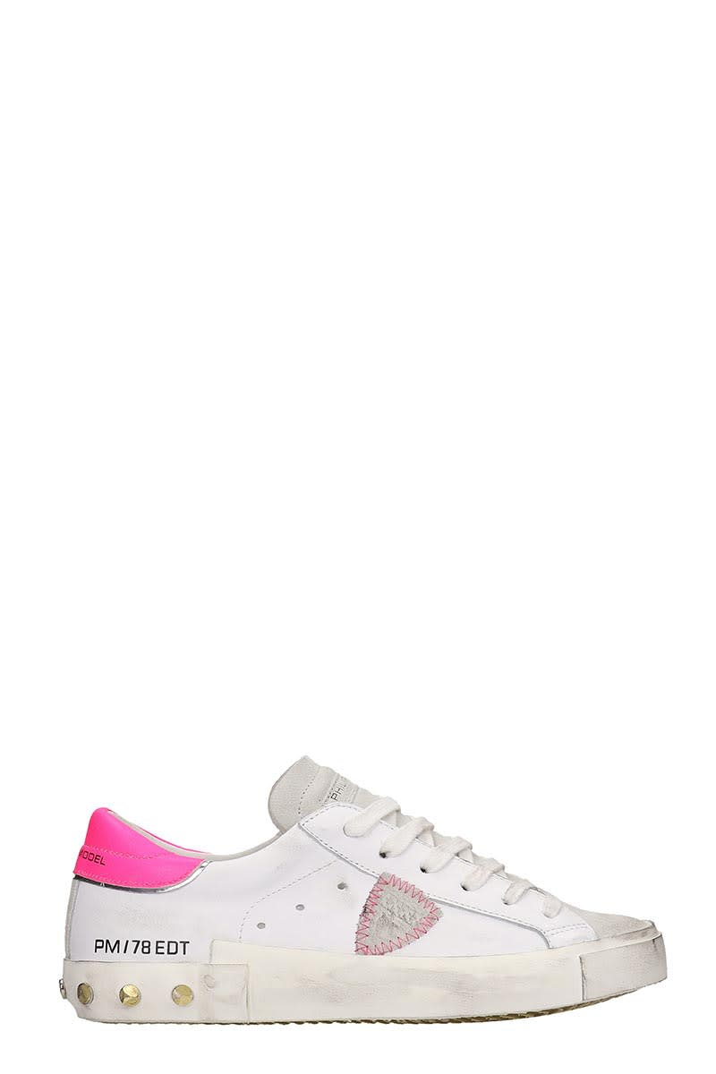 Prsx Sneakers In White Leather
