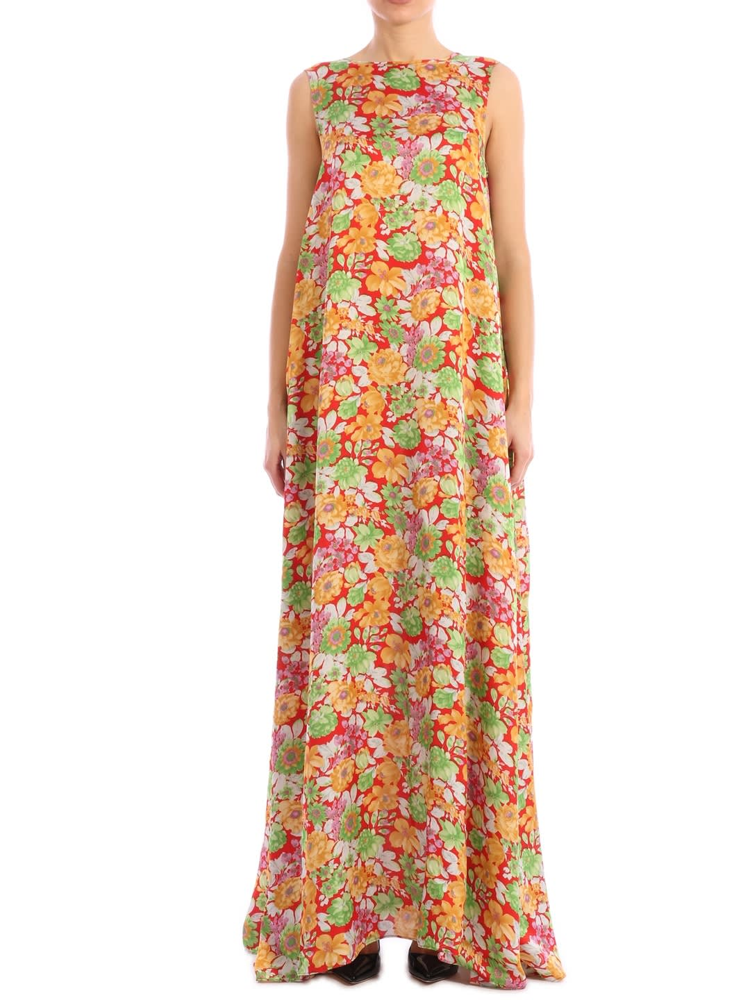 Buy Plan C Floral Print Maxi Dress online, shop Plan C with free shipping