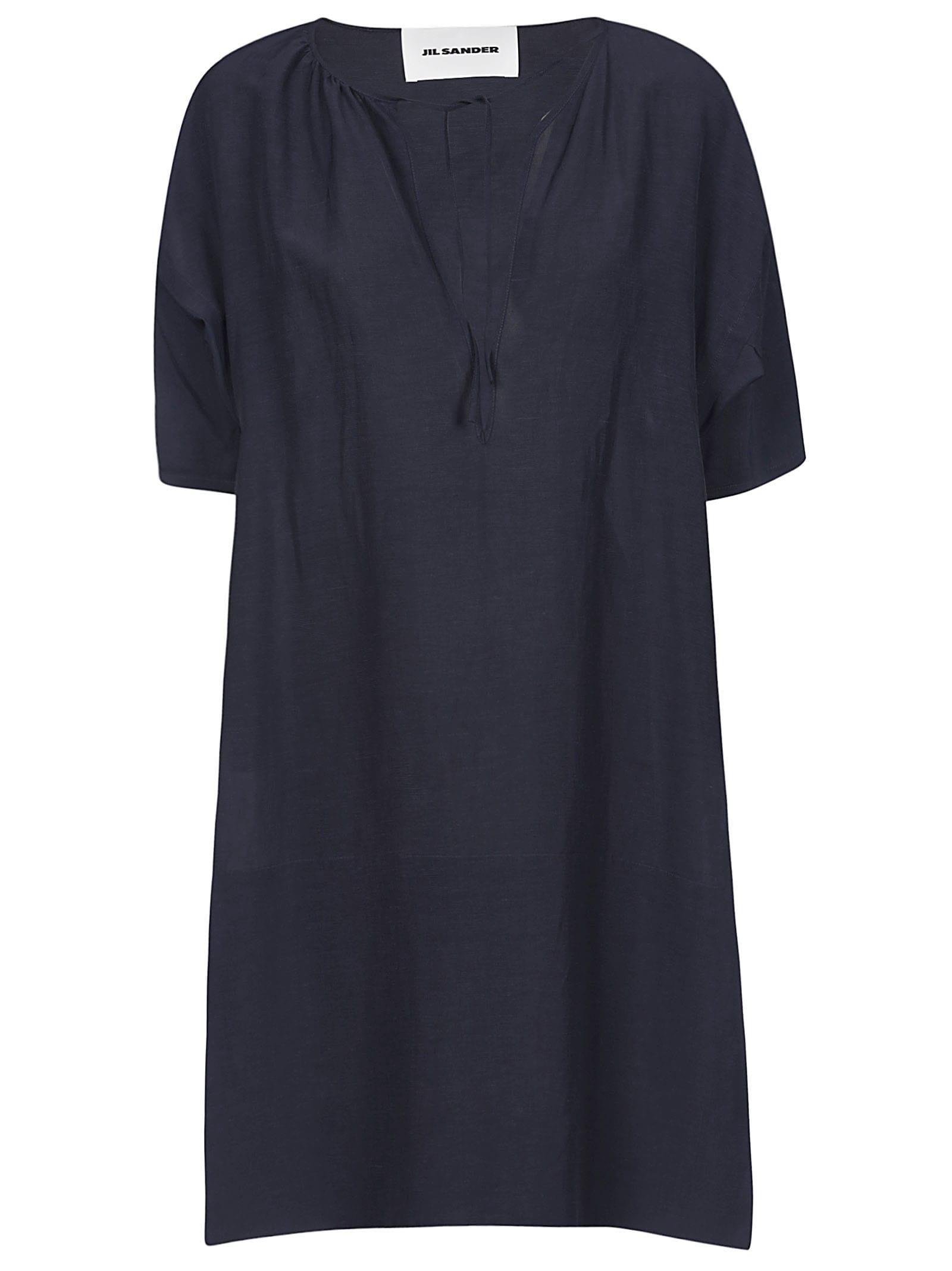 Buy Jil Sander Flared V-neck Dress online, shop Jil Sander with free shipping