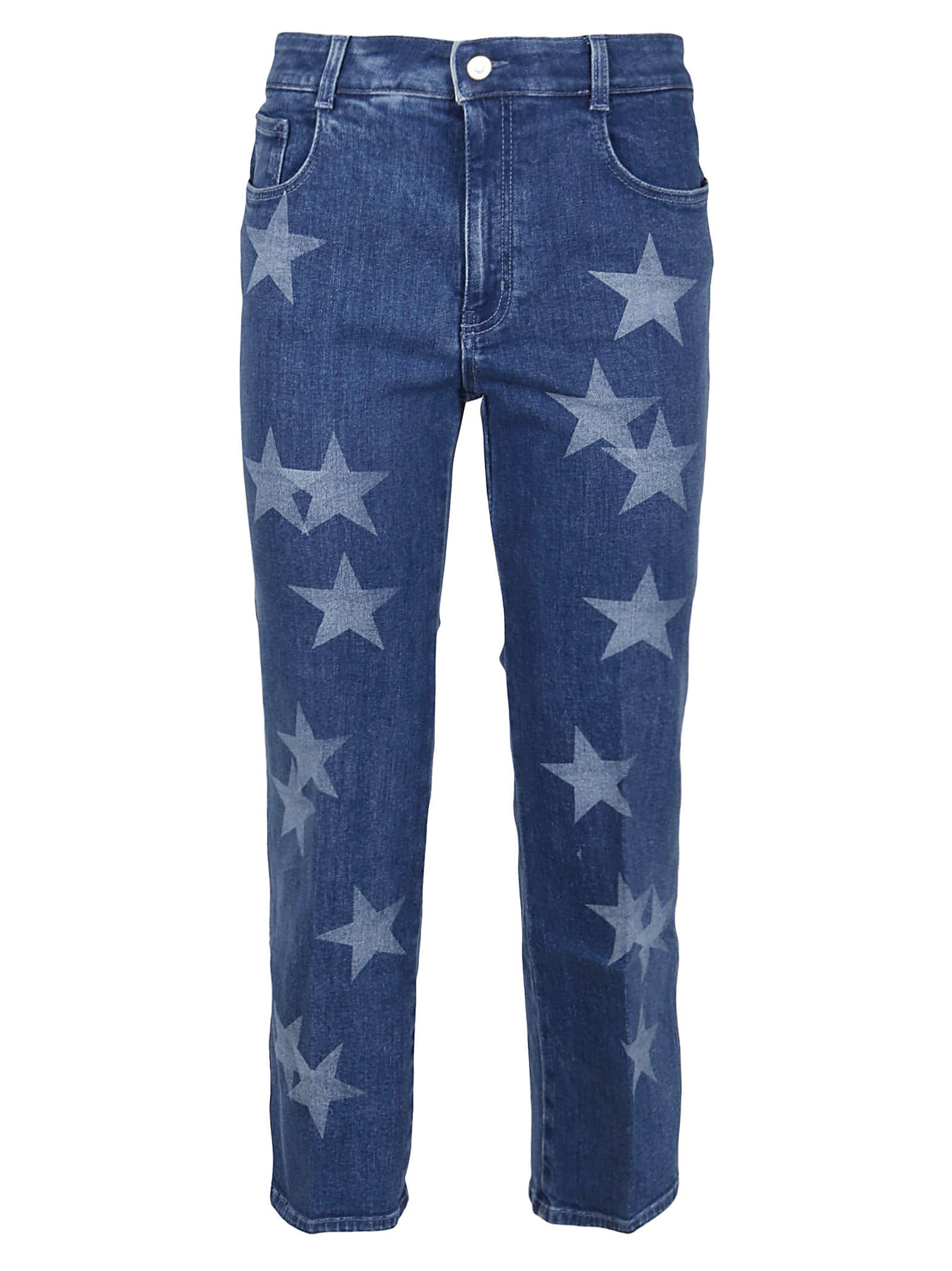Stella Mccartney NEW CROP JEAN NEW STARS ON BLUE SKY