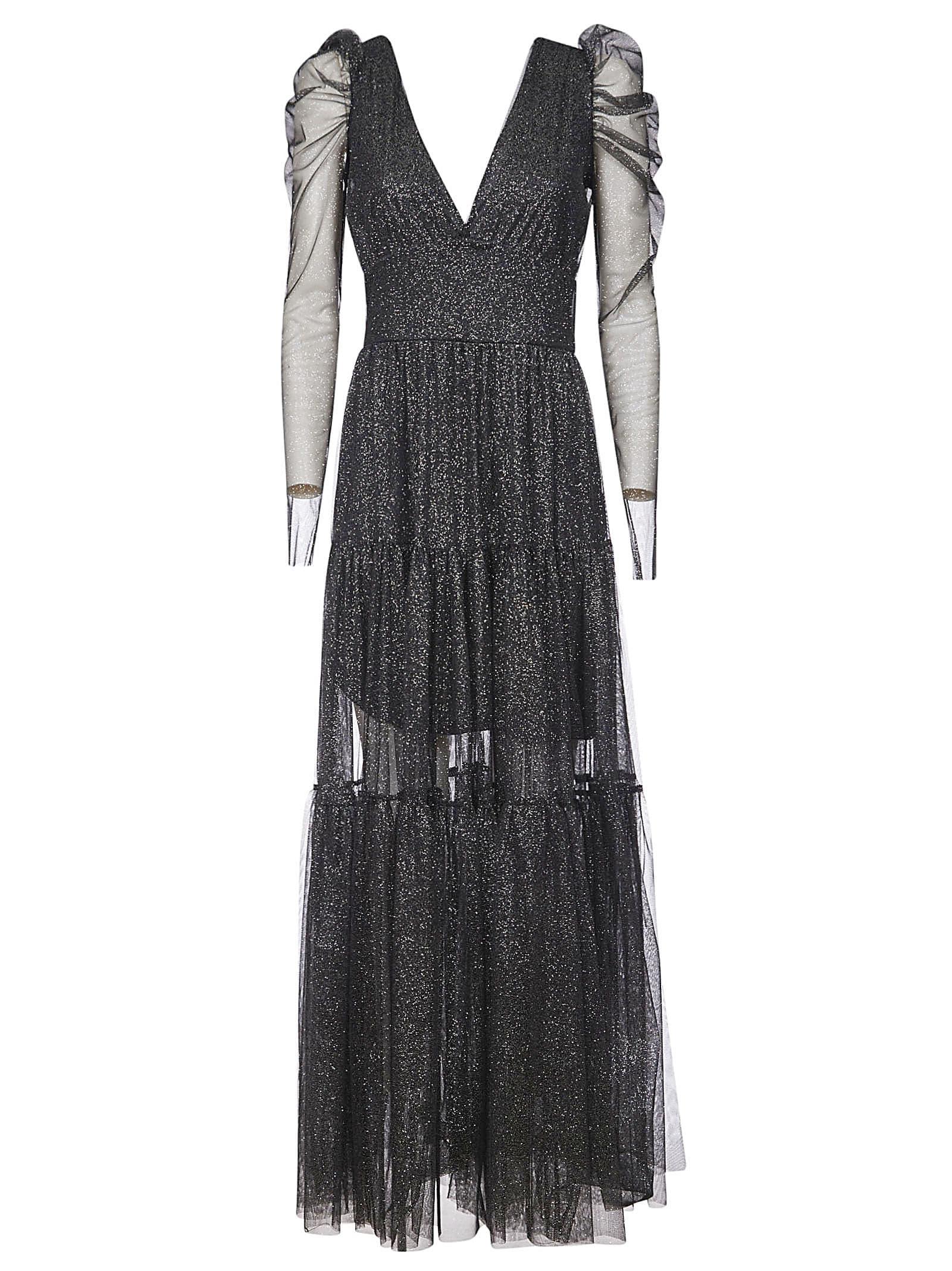 Buy aniye by V-neck Long Glittery Dress online, shop aniye by with free shipping