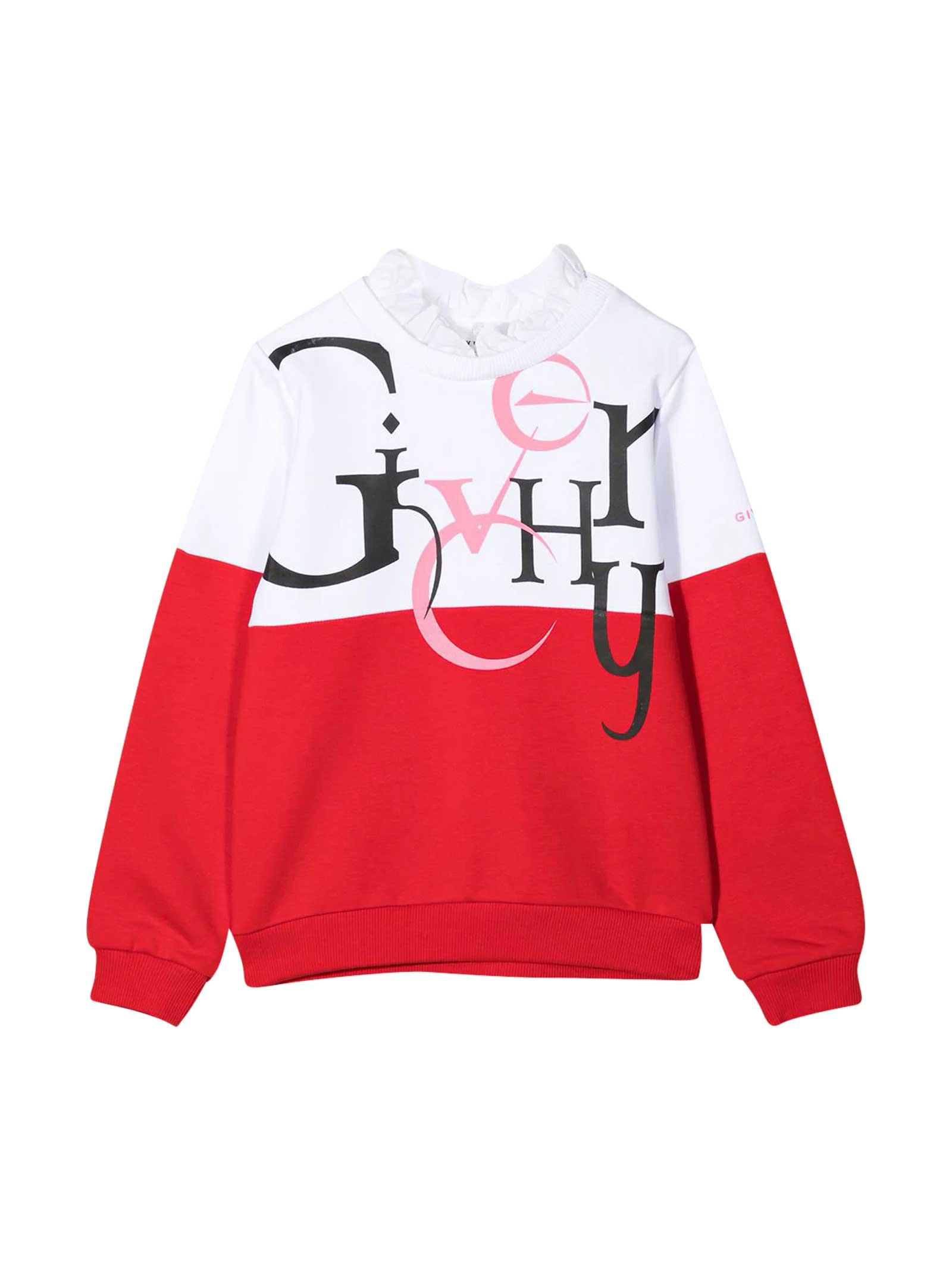 Givenchy Shirts TEEN TWO-TONE SWEATSHIRT