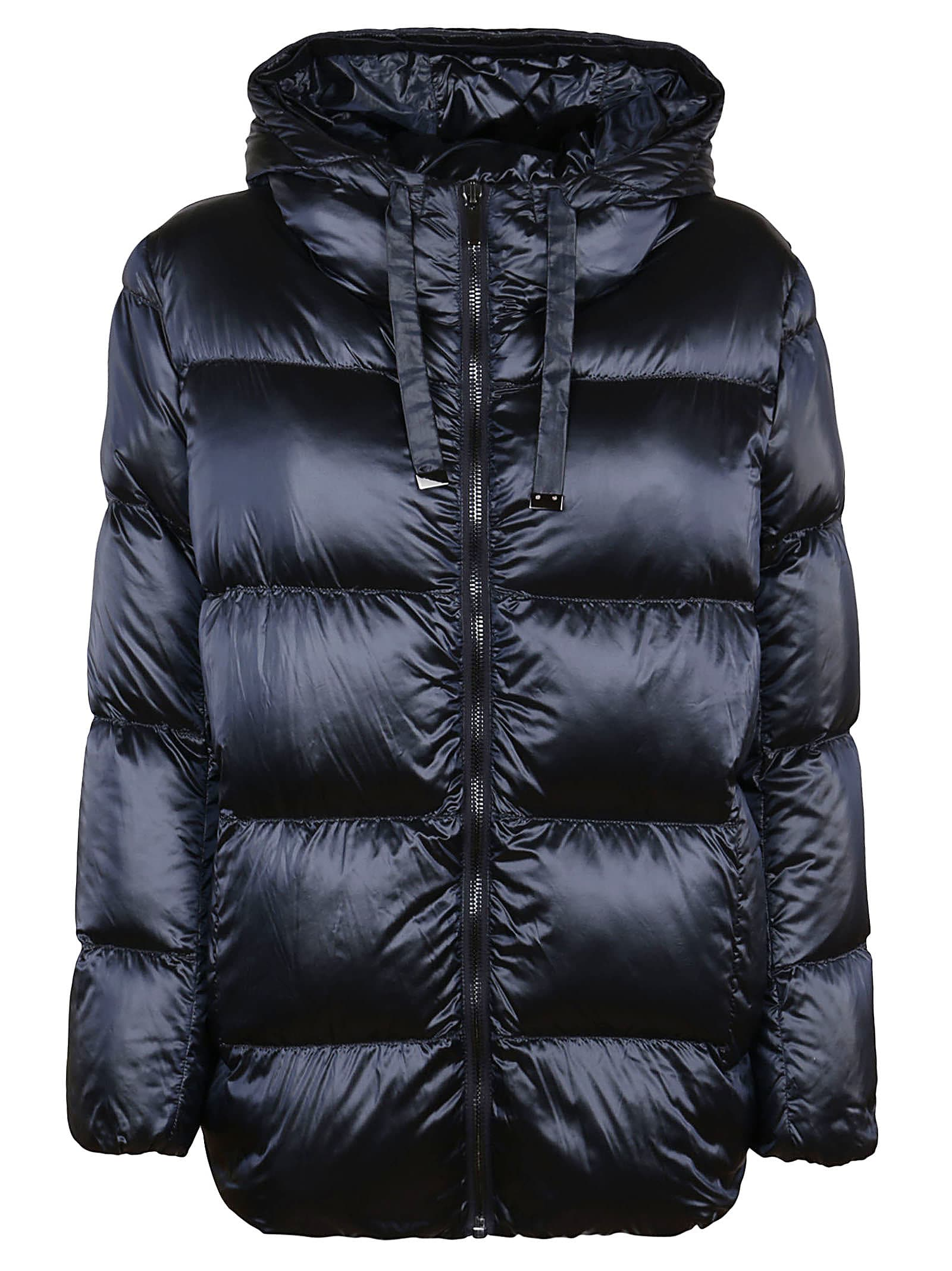 Down Jacket In Blue Technical Fabric