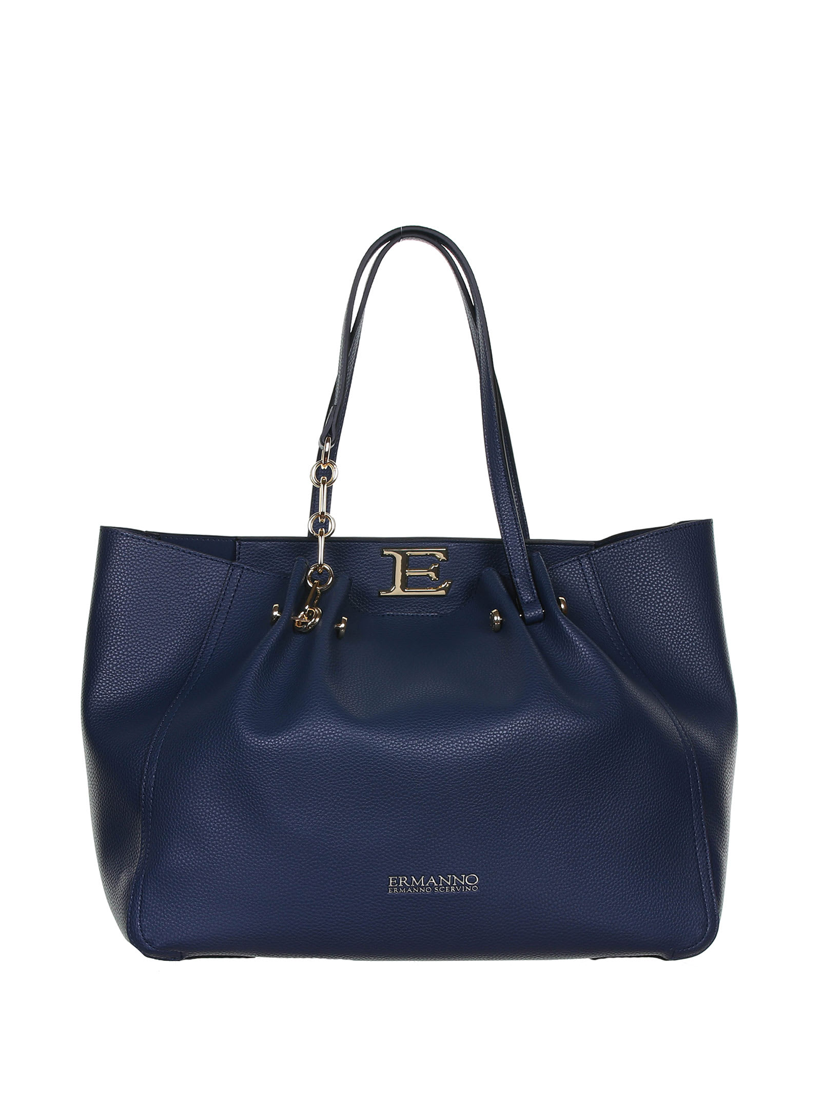 Ermanno Scervino Giovanna Blue Shopping Bag In Navy Blu