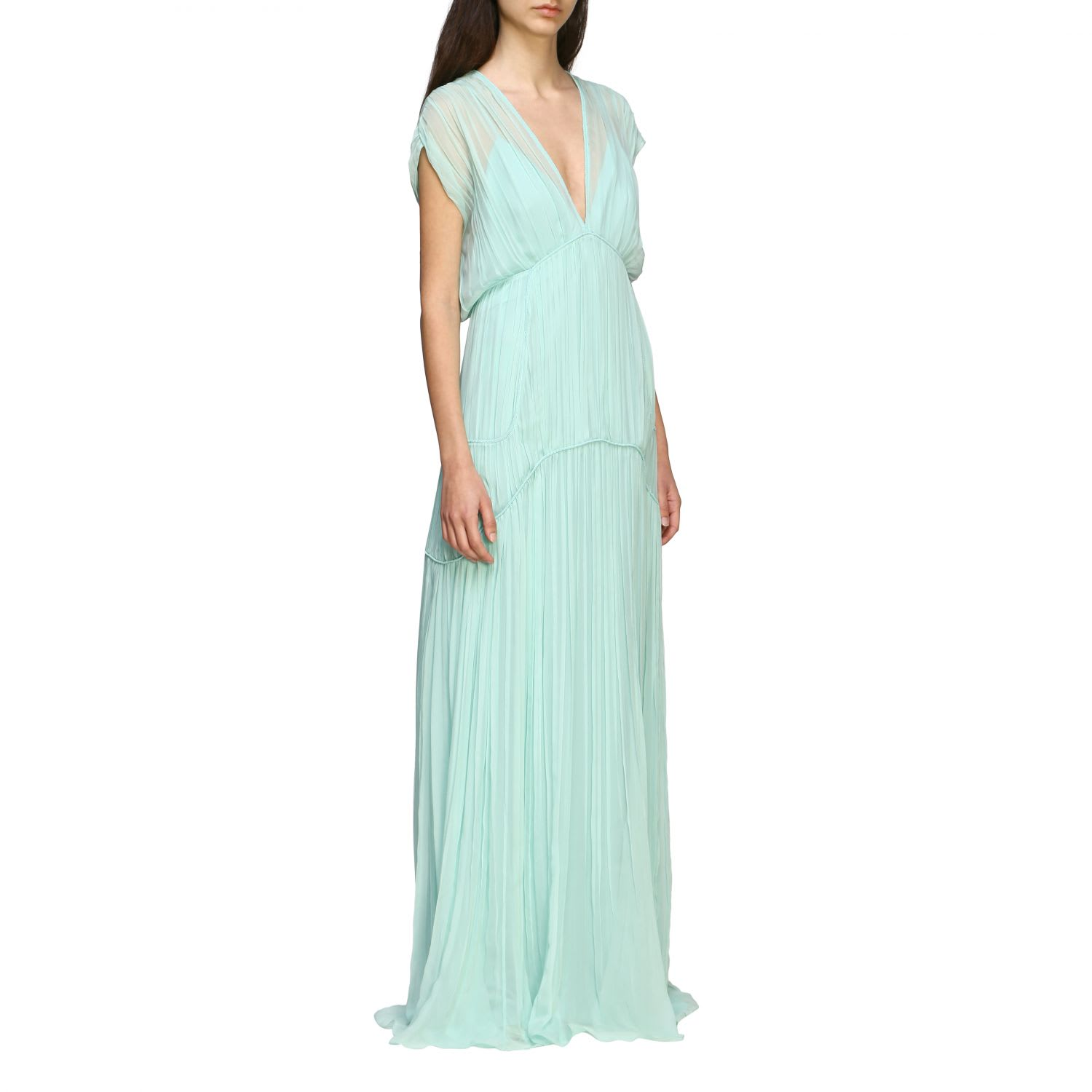 Buy Alberta Ferretti Dress Alberta Ferretti Maxi Dress In Chiffon online, shop Alberta Ferretti with free shipping