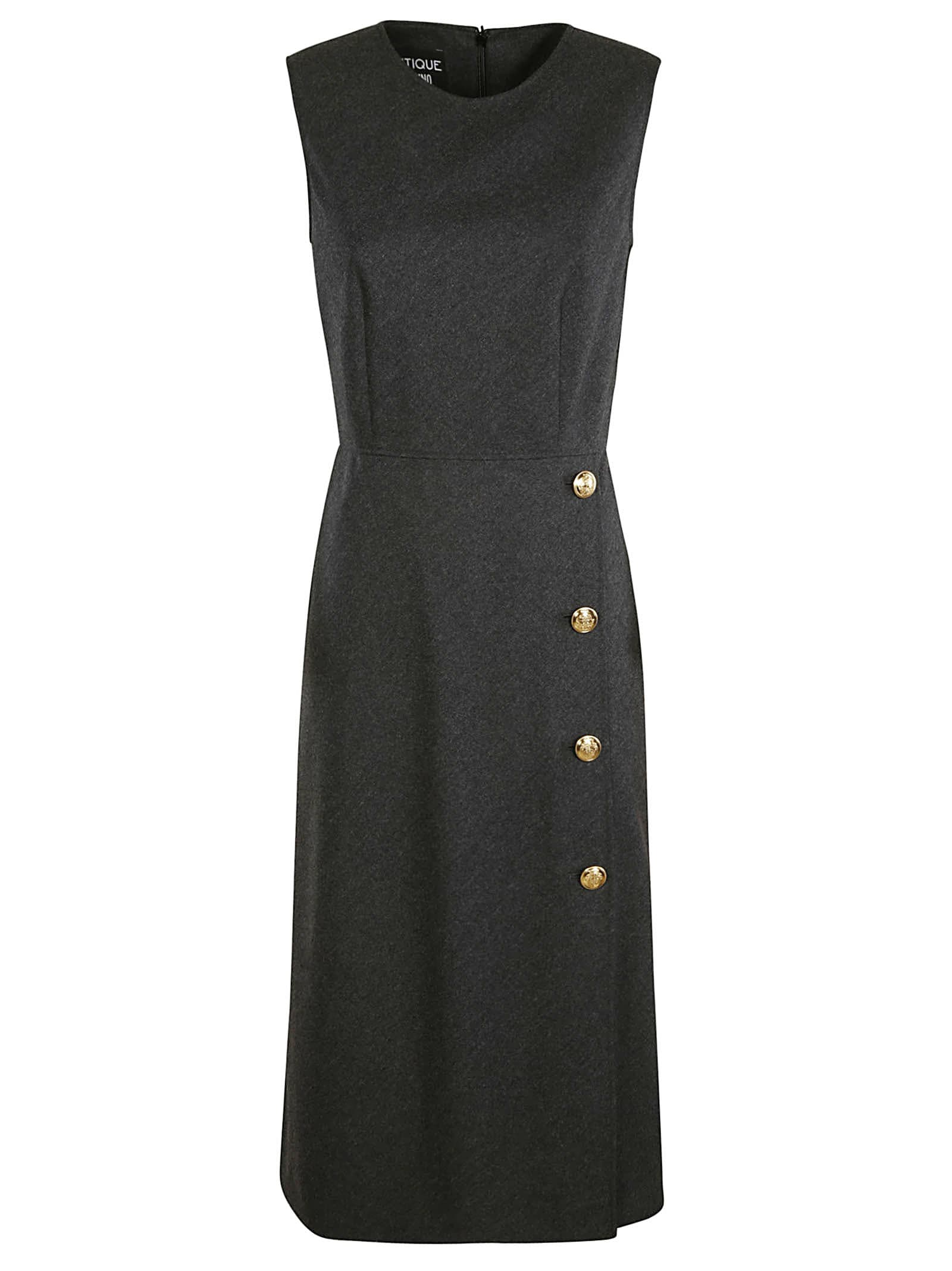 Buy Moschino Sleeveless Button Embellished Long Dress online, shop Moschino with free shipping