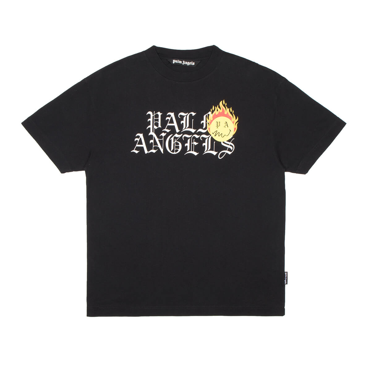 Palm Angels Cottons BURNING HEAD LOGO T-SHIRT