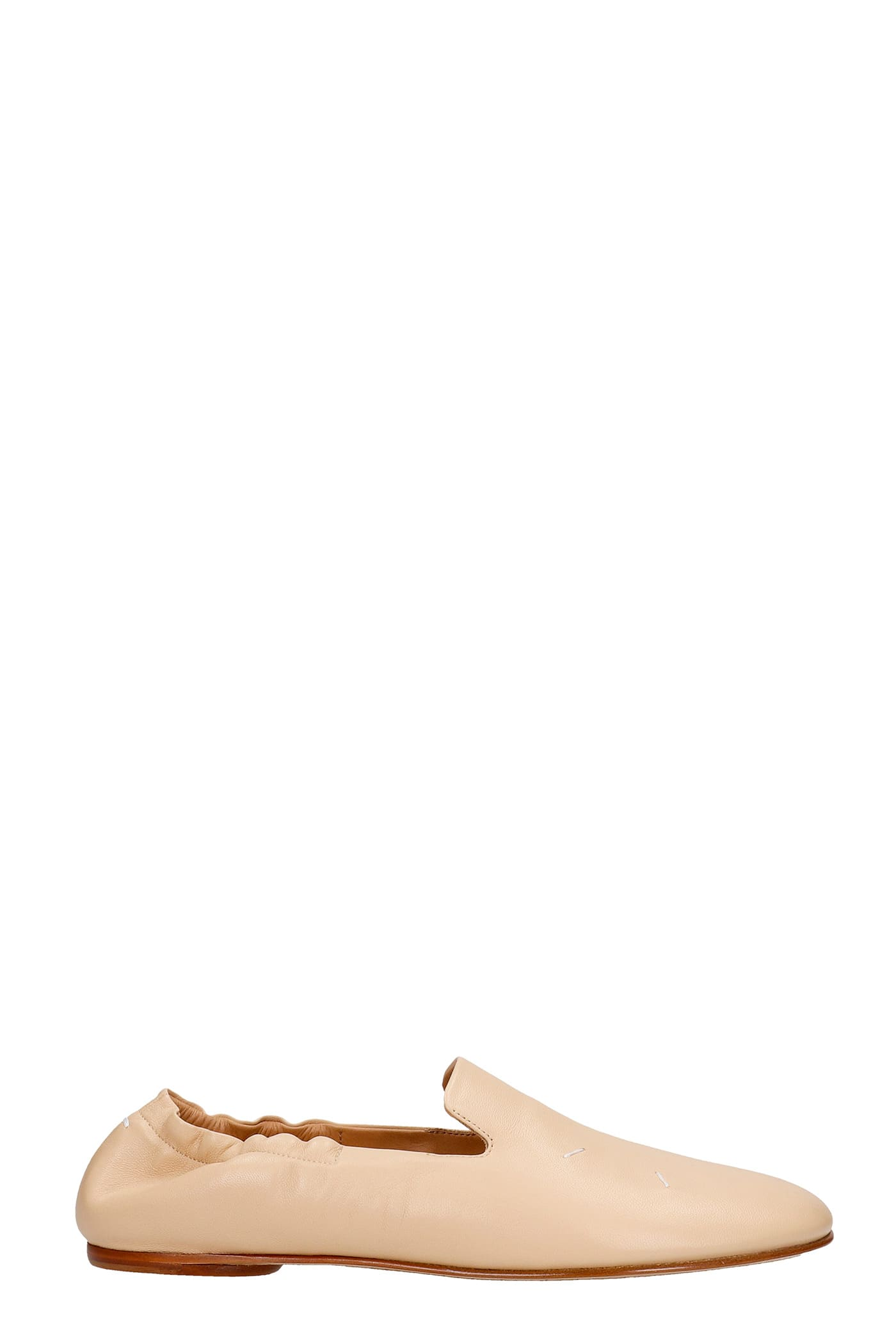 Buy Maison Margiela Loafers In Powder Leather online, shop Maison Margiela shoes with free shipping