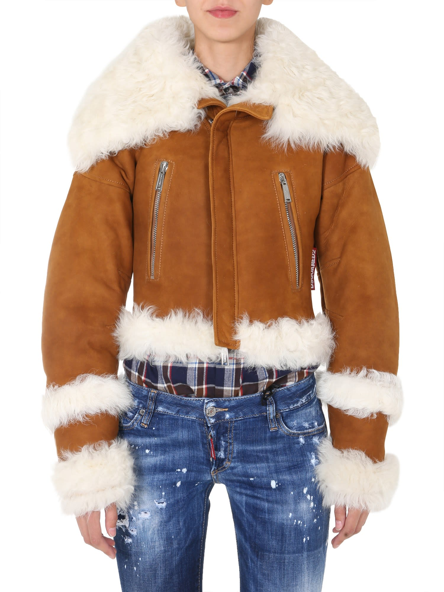 Dsquared2 Leather Bomber