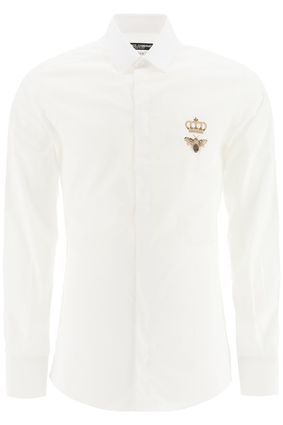 Dolce & Gabbana Shirt With Crown And Bee Embroidery