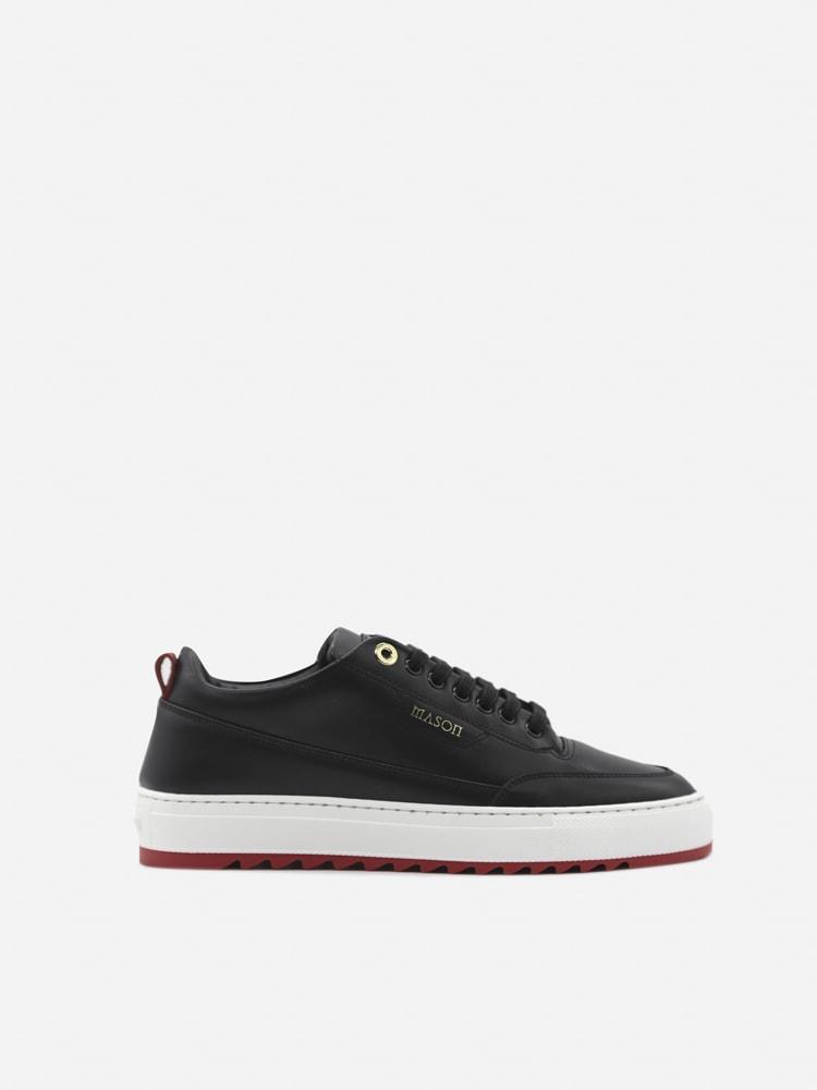 Mason Garments Torino Leather Sneakers In Black
