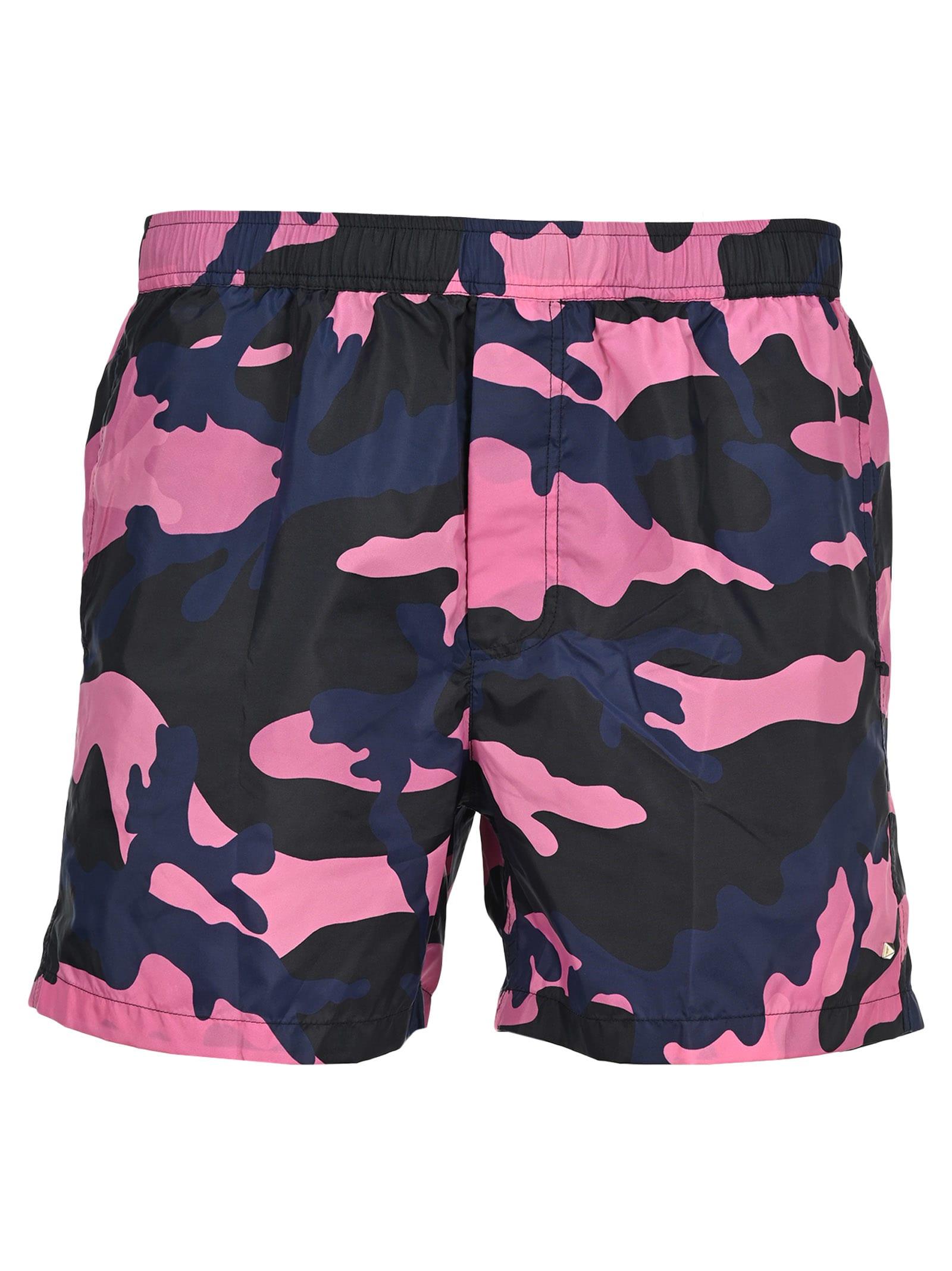 valentino blue camo shorts