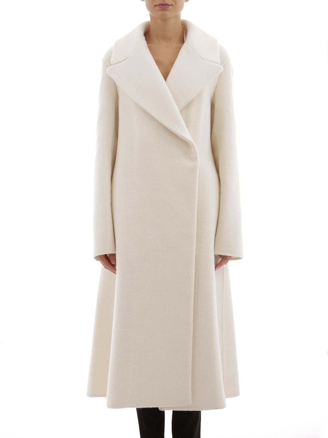 Jil Sander Coart In Cream Alpaca