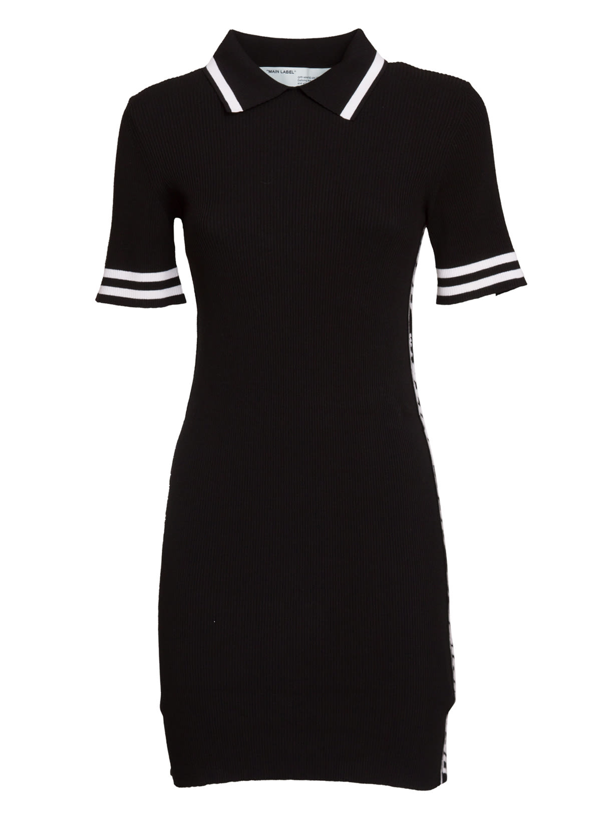 Buy Off White Fitted Polo Dress online, shop Off-White with free shipping