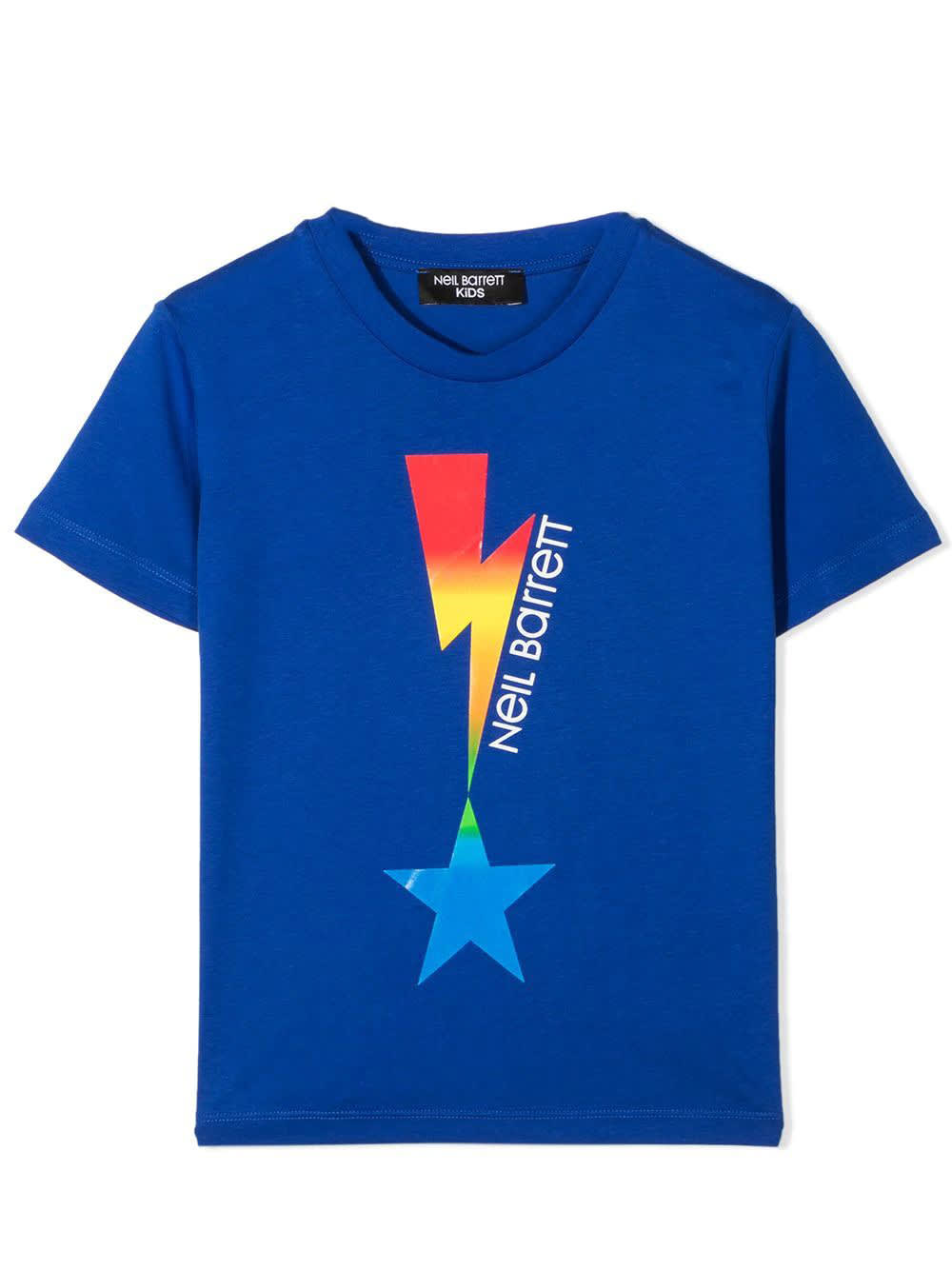 Neil Barrett Kids' Print T-shirt In Royal