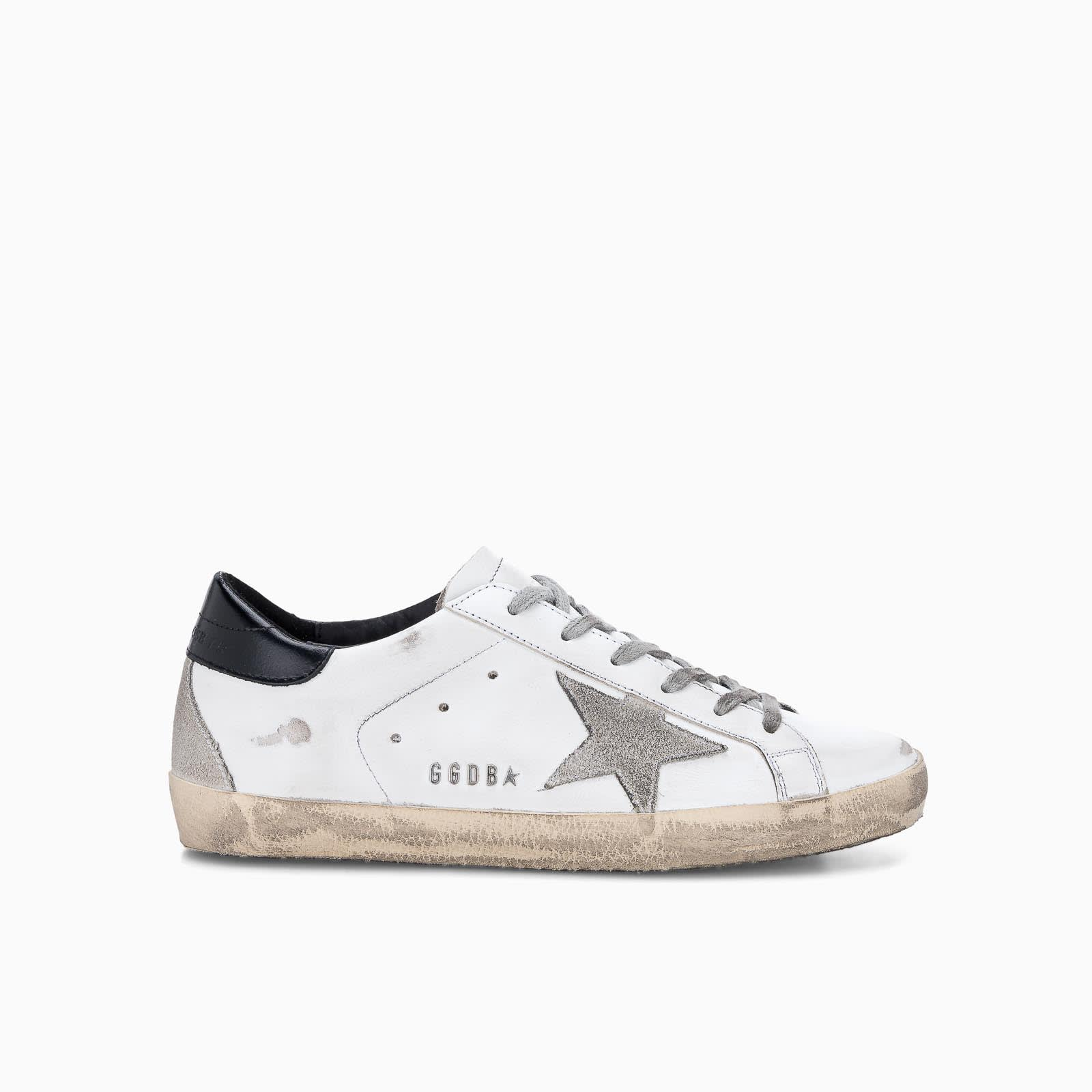 Golden Goose Superstar In White Ice Black