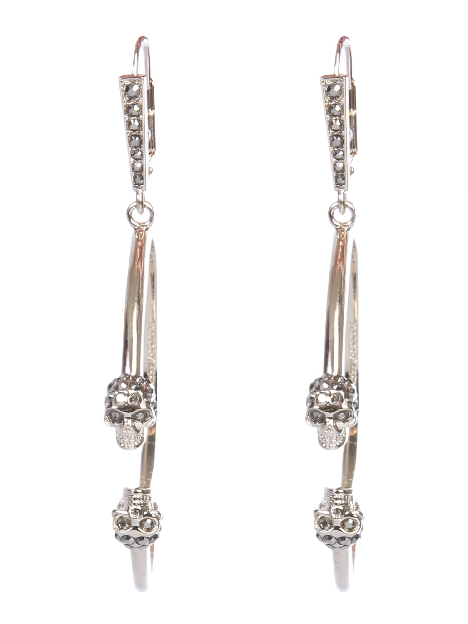Alexander McQueen Skull Creole Earrings