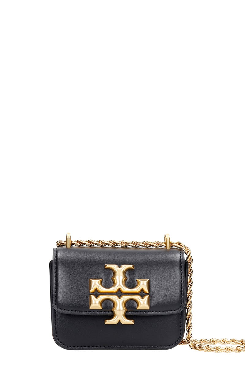 Tory Burch Eleanor Shoulder Bag In Black Leather