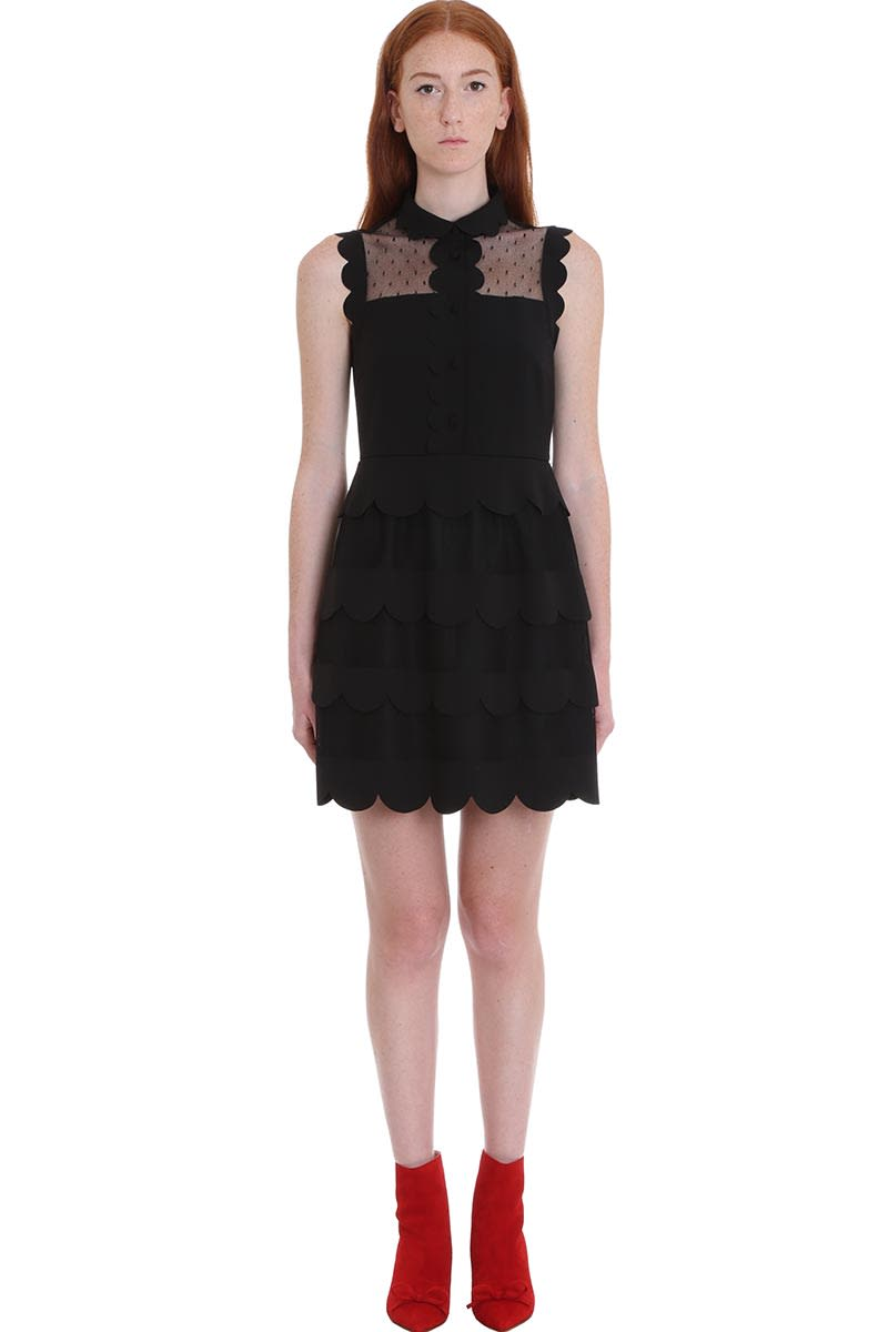 RED Valentino Dress In Black Cotton