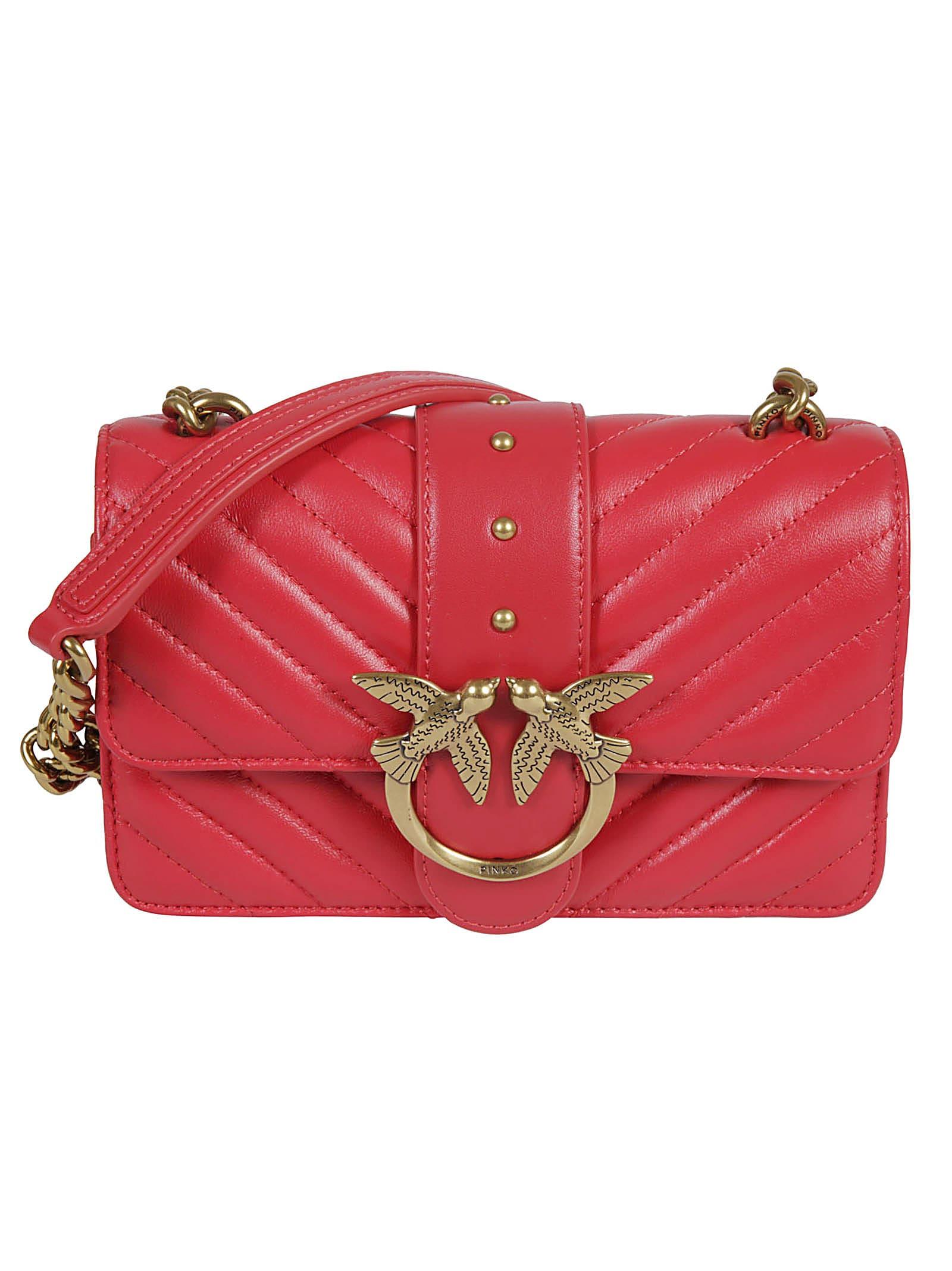 Pinko LOVE MINI ICON V QUILT SHOULDER BAG