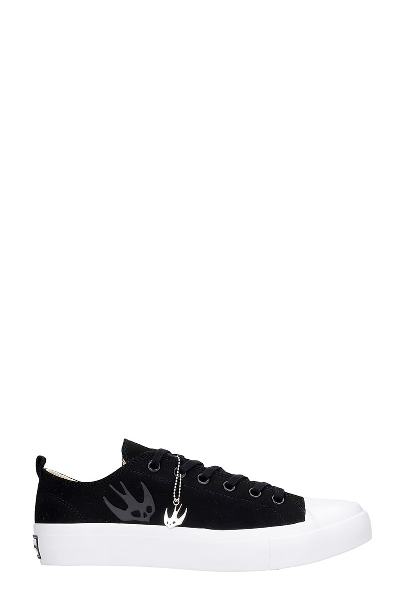 MCQ BY ALEXANDER MCQUEEN ORBYT MID SNEAKERS IN BLACK POLYAMIDE