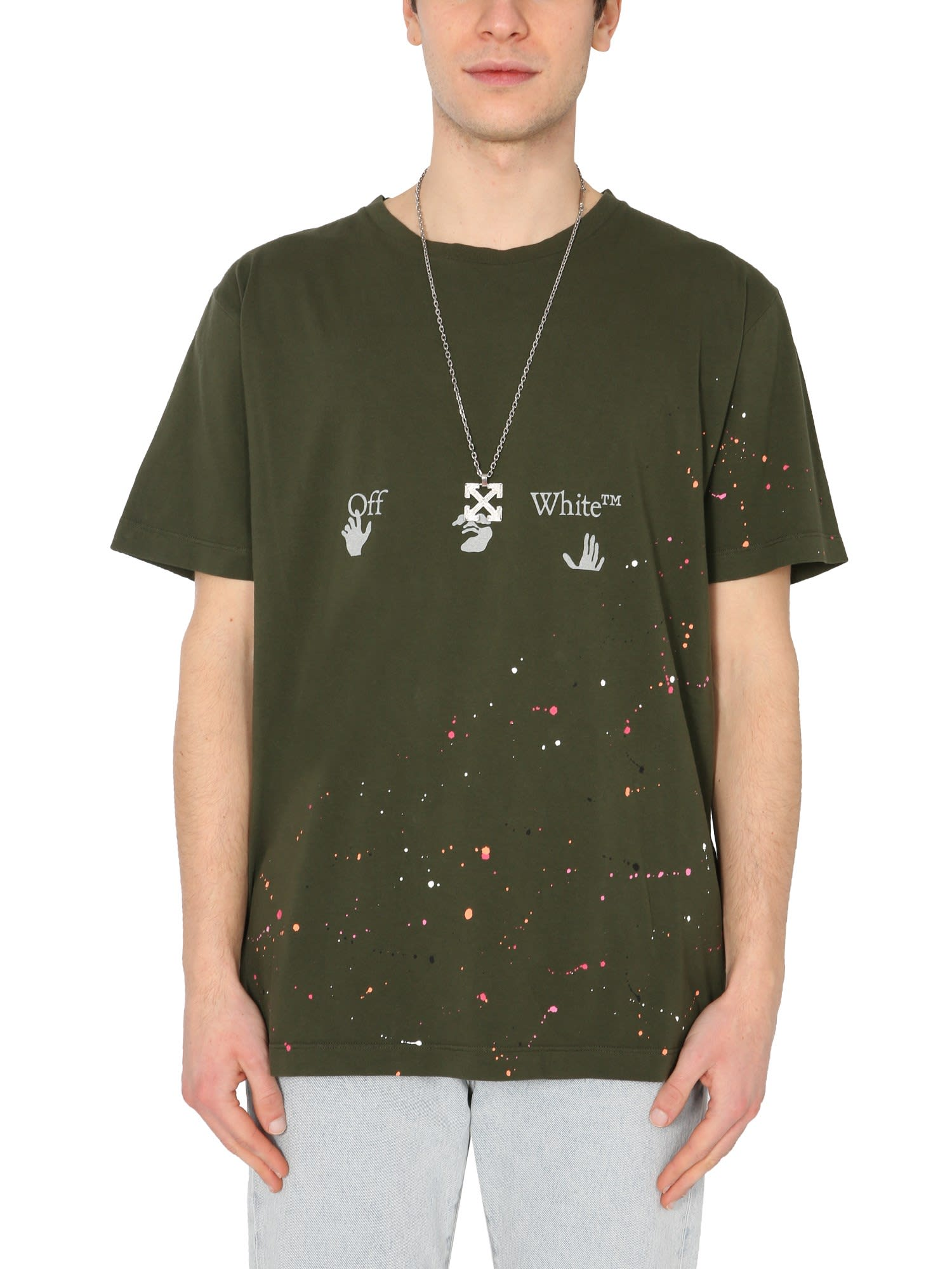 Off-White Cottons CREW NECK T-SHIRT