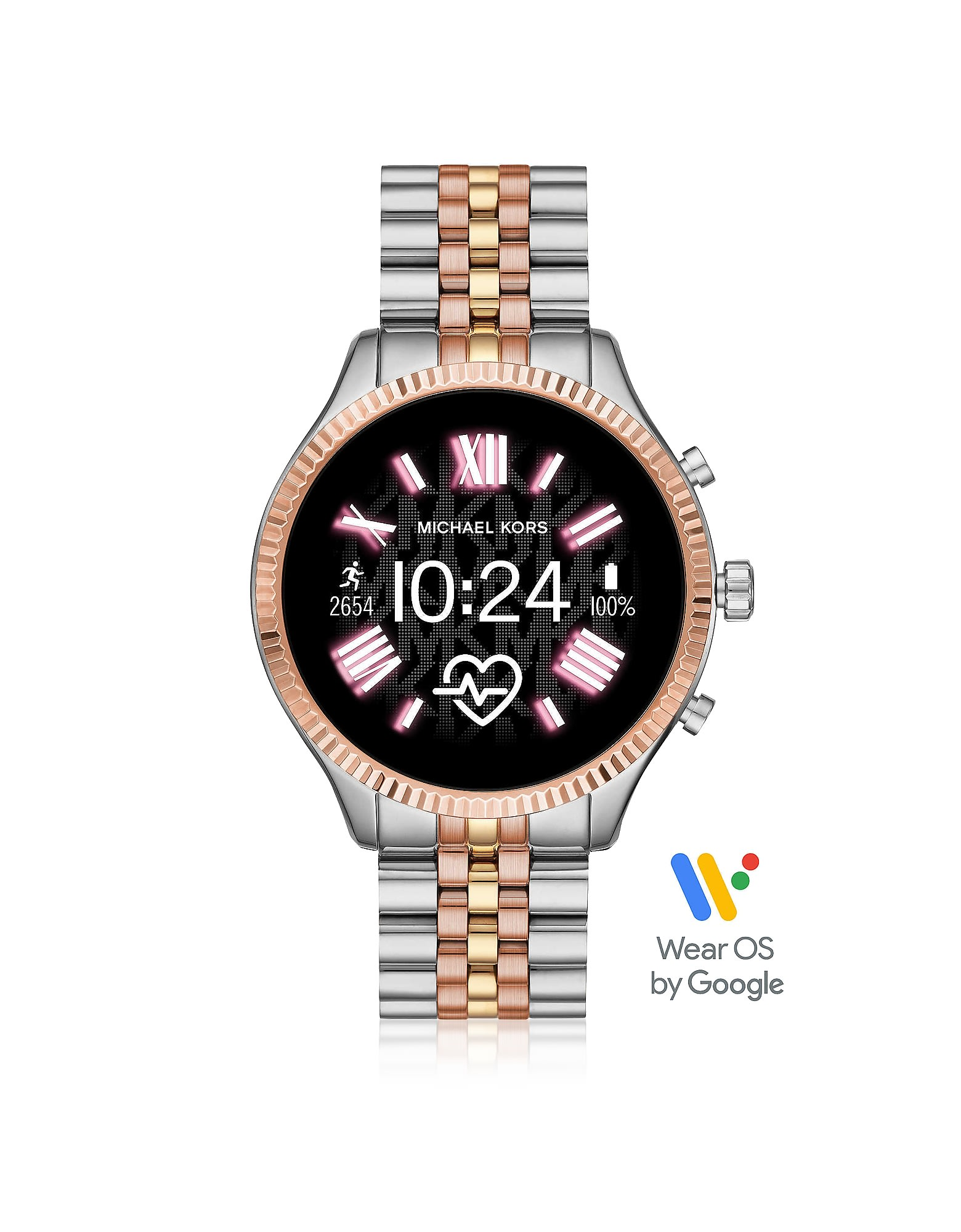 Michael Kors Watches TRI-TONE STAINLESS STEEL LEXINGTON 2.0 WOMENS DISPLAY WATCH