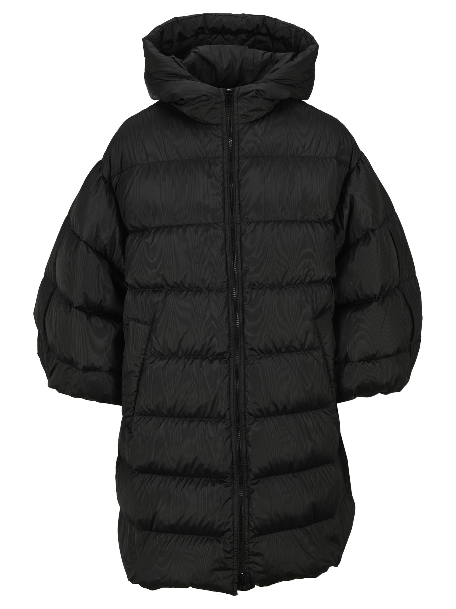 Black Down Jacket By Red Valentino Featuring: - High Neck - Front Zip Fastening - Half-length Sleeves - Padded DesignComposition: 100% POLYESTER