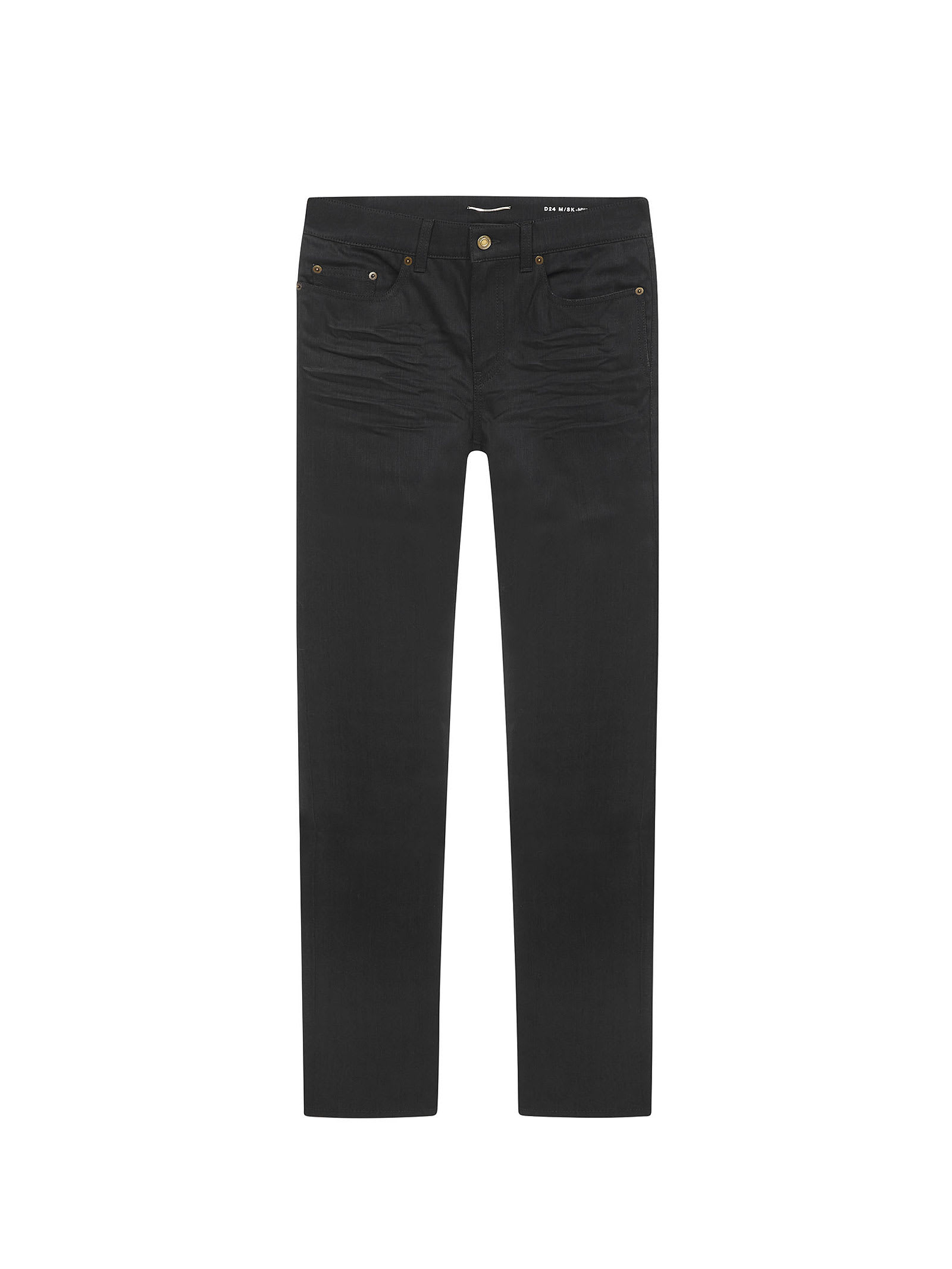 Saint Laurent jeans in black stretch cotton. Composition: Cotone, 2% Elastan