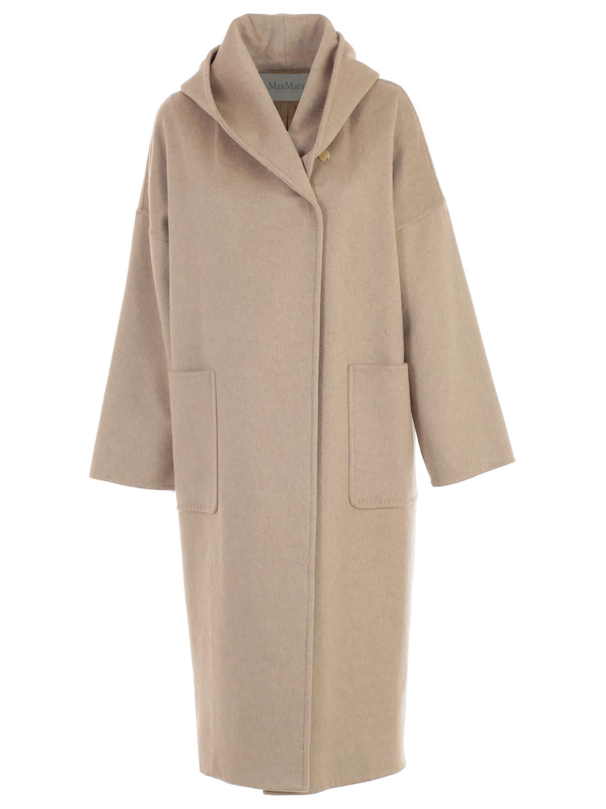 Max Mara Coat Marilyn Double Breasted W/hood And Belt