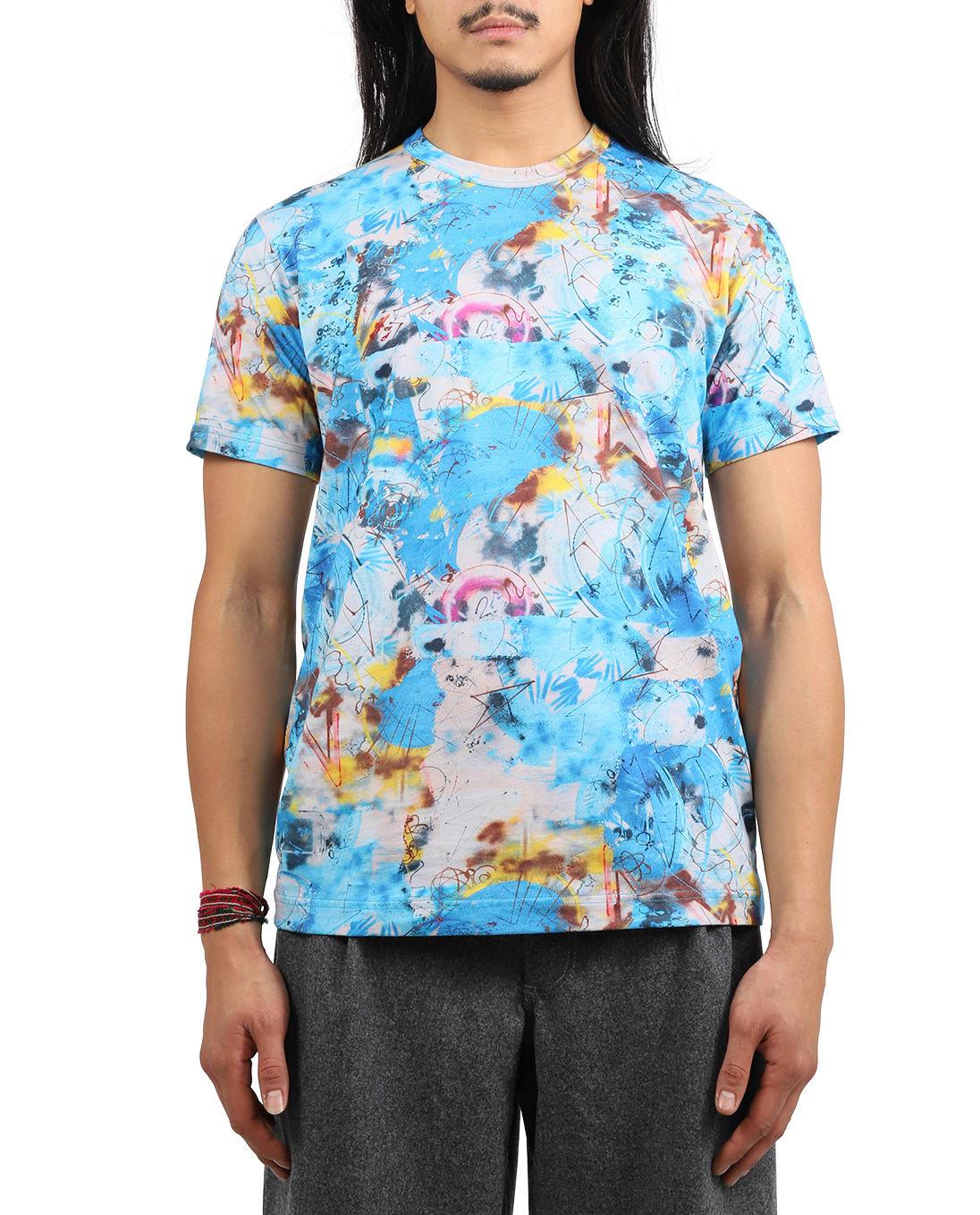 Comme Des Garçons Shirt COMME DES GARCONS SHIRT LIGHT BLUE FUTURA T-SHIRT