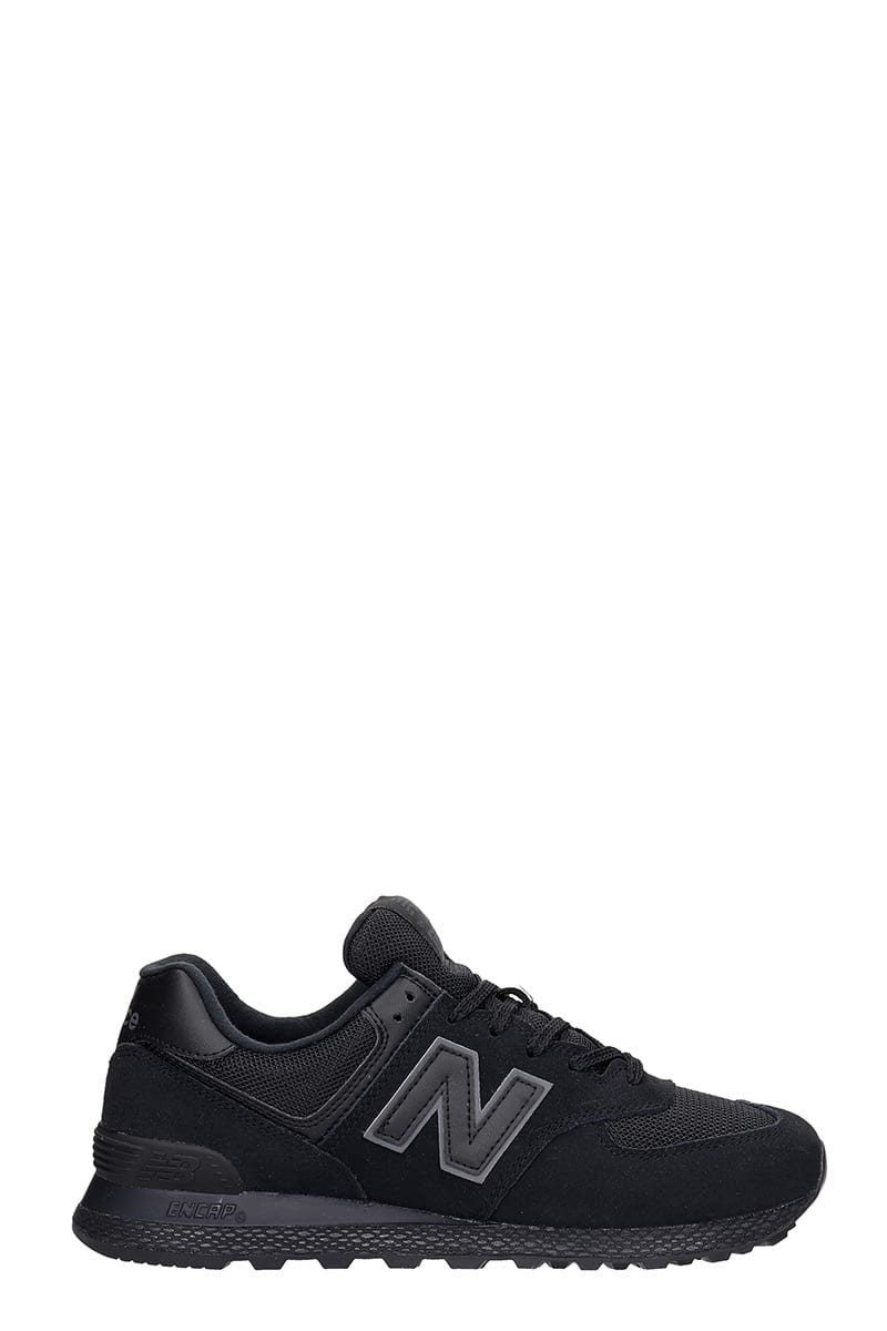 New Balance 574 Sneakers In Black Suede