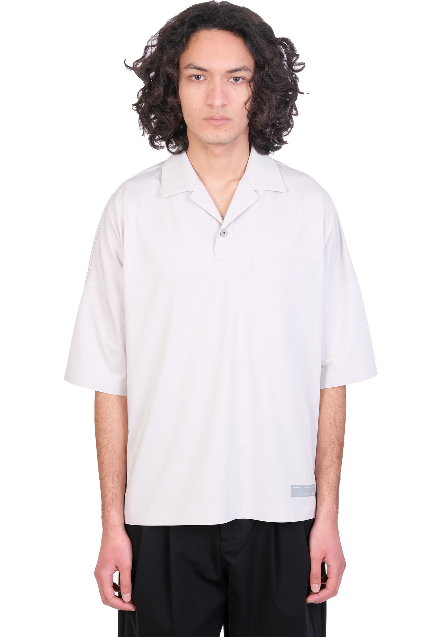Polo In Grey Polyester