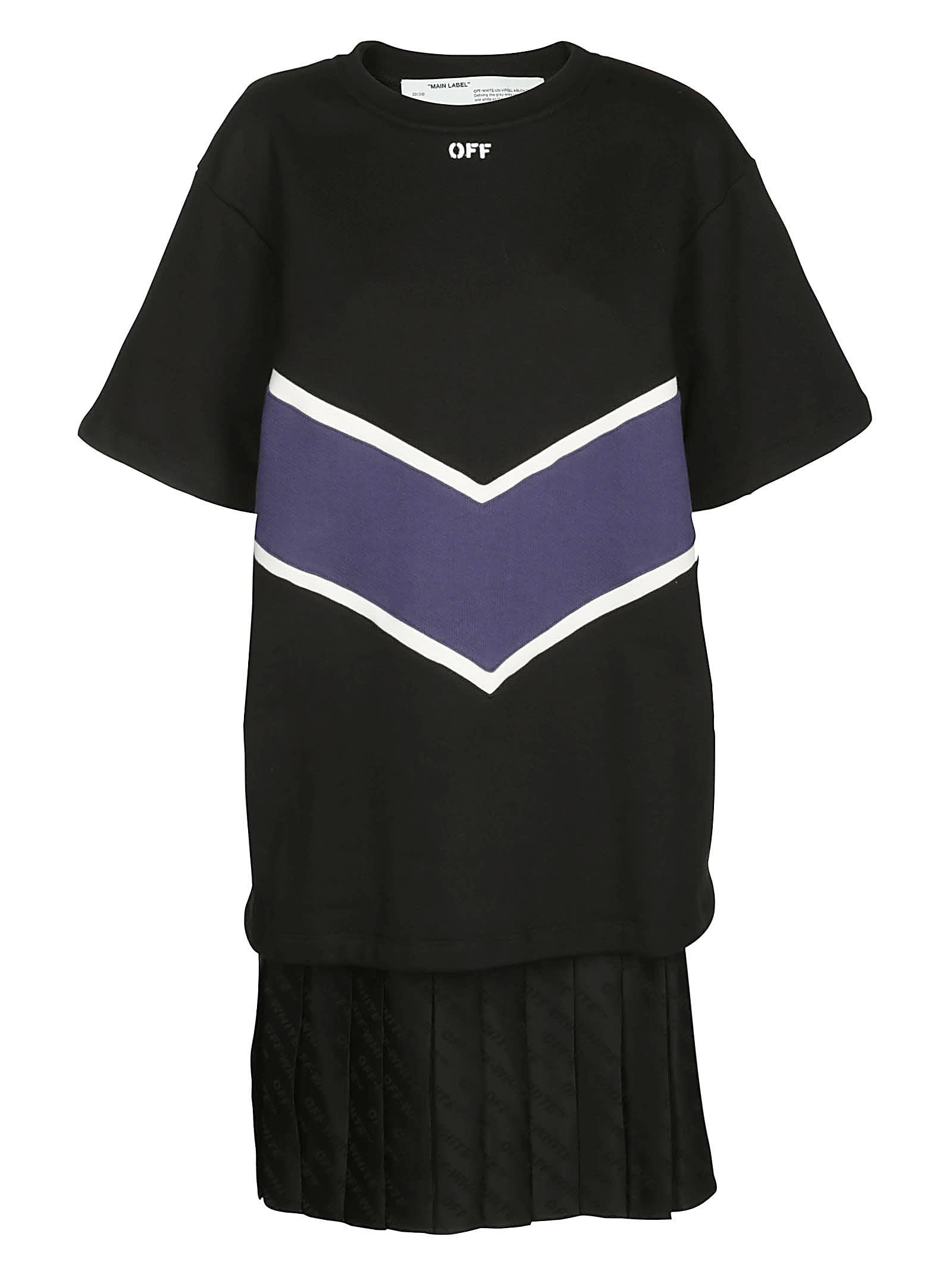 Off-White Intarsia Print Dress
