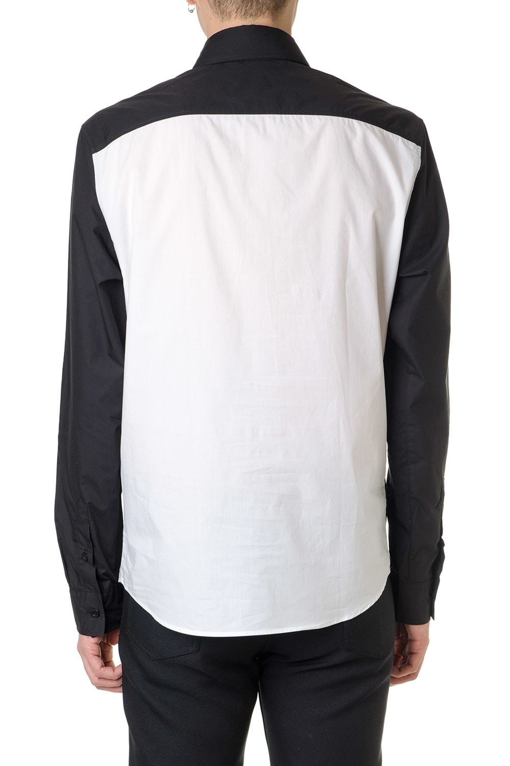 e7c033a909 Versus Versace Bicolor Shirt Black & White With Embroidered 90s Logo