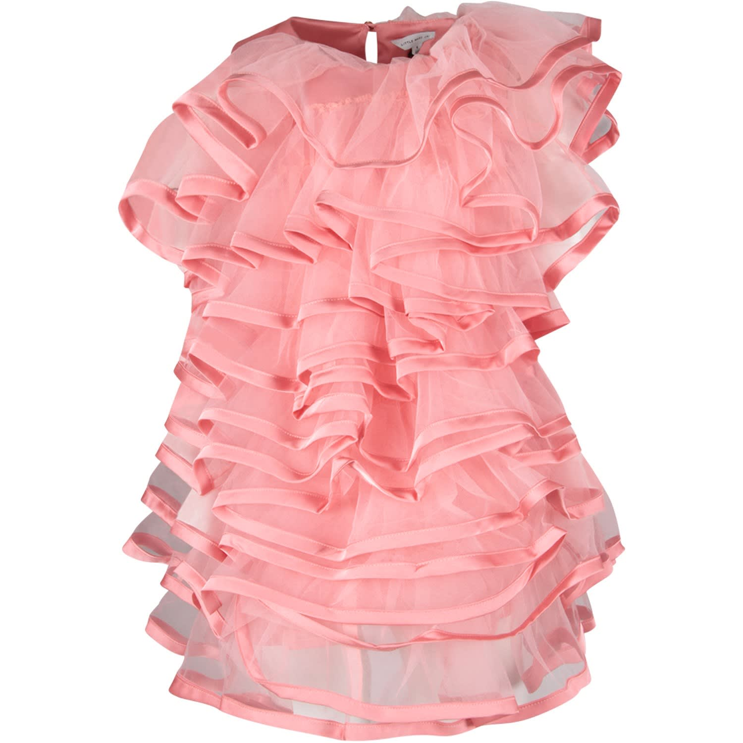 Buy Little Marc Jacobs Pink Girl Dress With Ruffles online, shop Little Marc Jacobs with free shipping