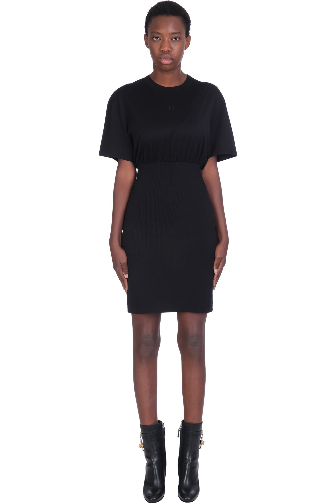 Buy Givenchy Dress In Black Cotton online, shop Givenchy with free shipping