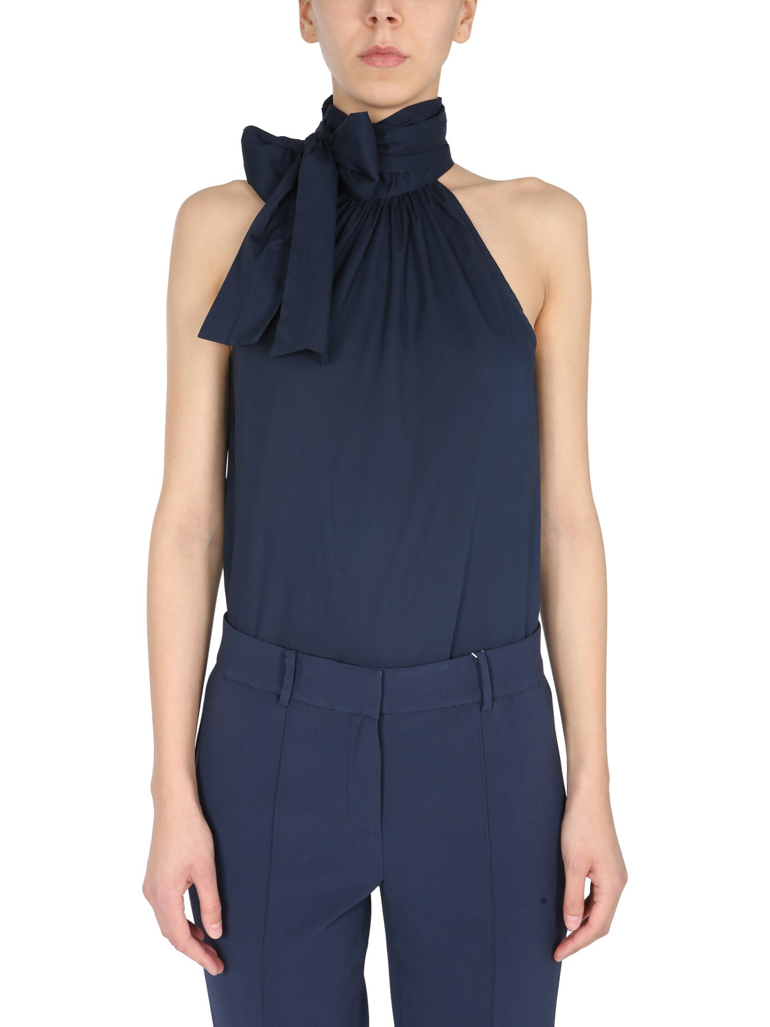 Michael Michael Kors Tops HIGH NECK TOP WITH BOW