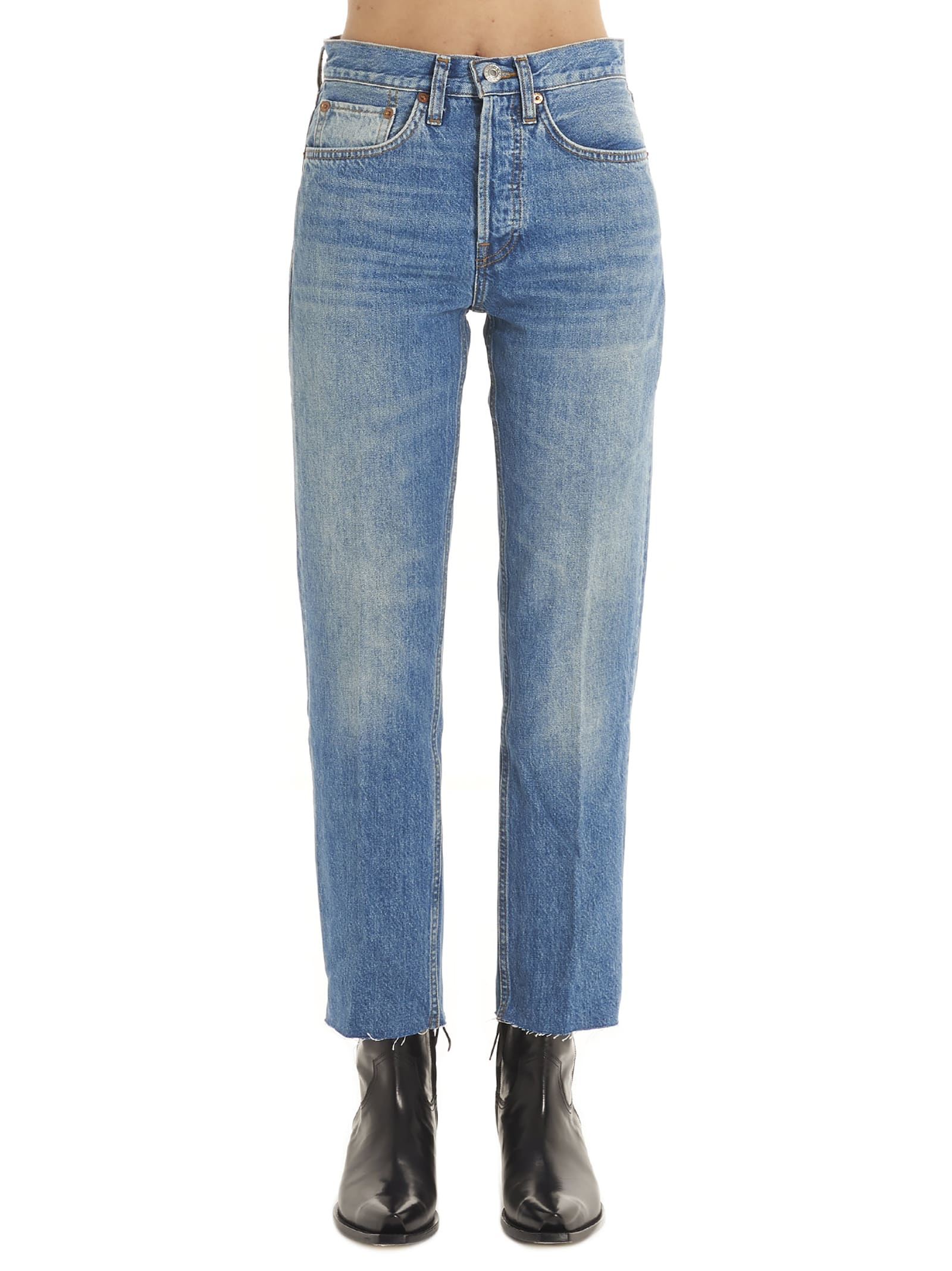 Re/done high Rise Stove Pipe Jeans