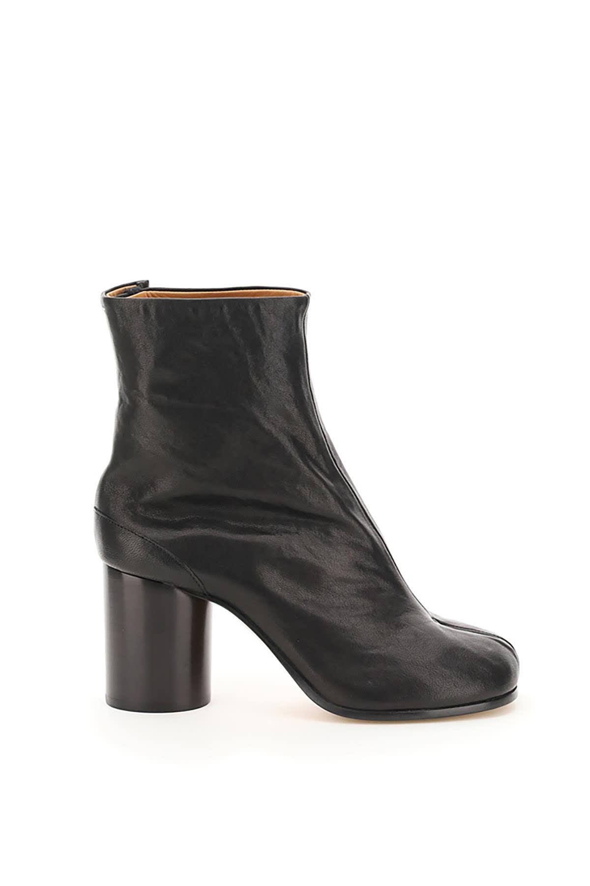 Buy Maison Margiela Tabi Leather Boots online, shop Maison Margiela shoes with free shipping