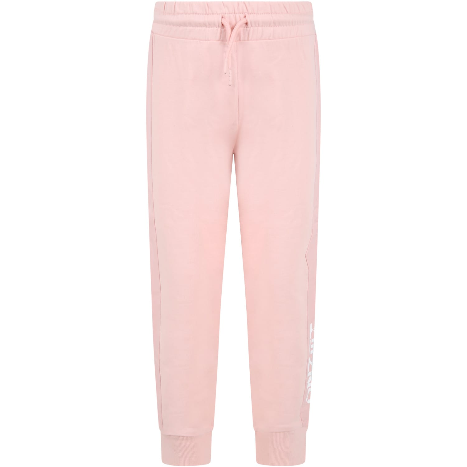 Pink Sweatpant For Girl With Logo