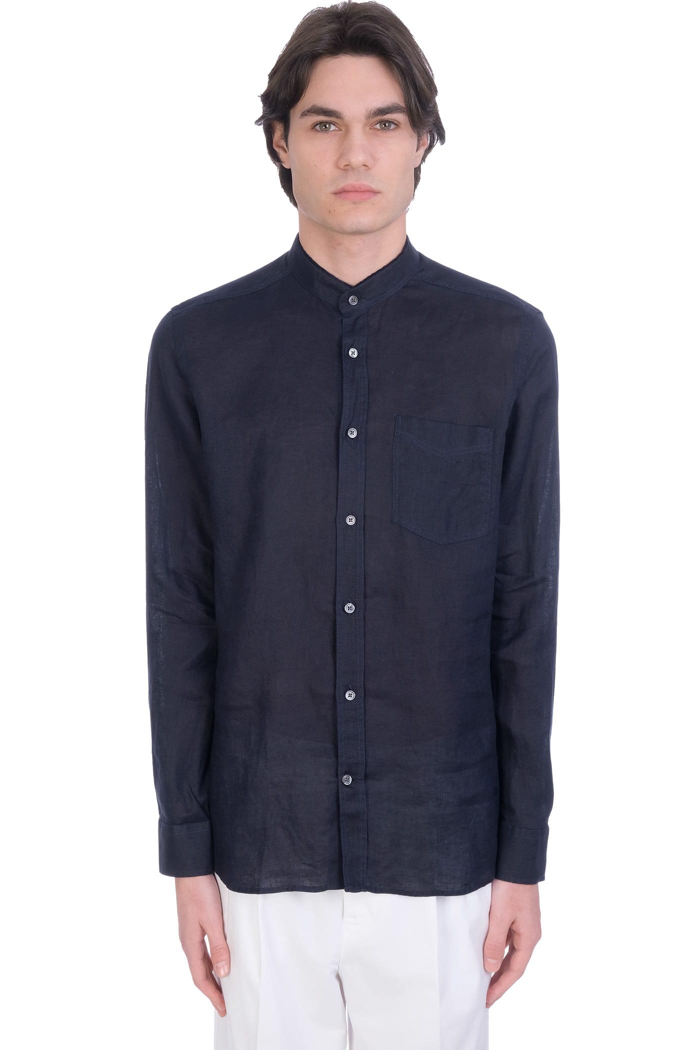 Shirt In Blue Linen