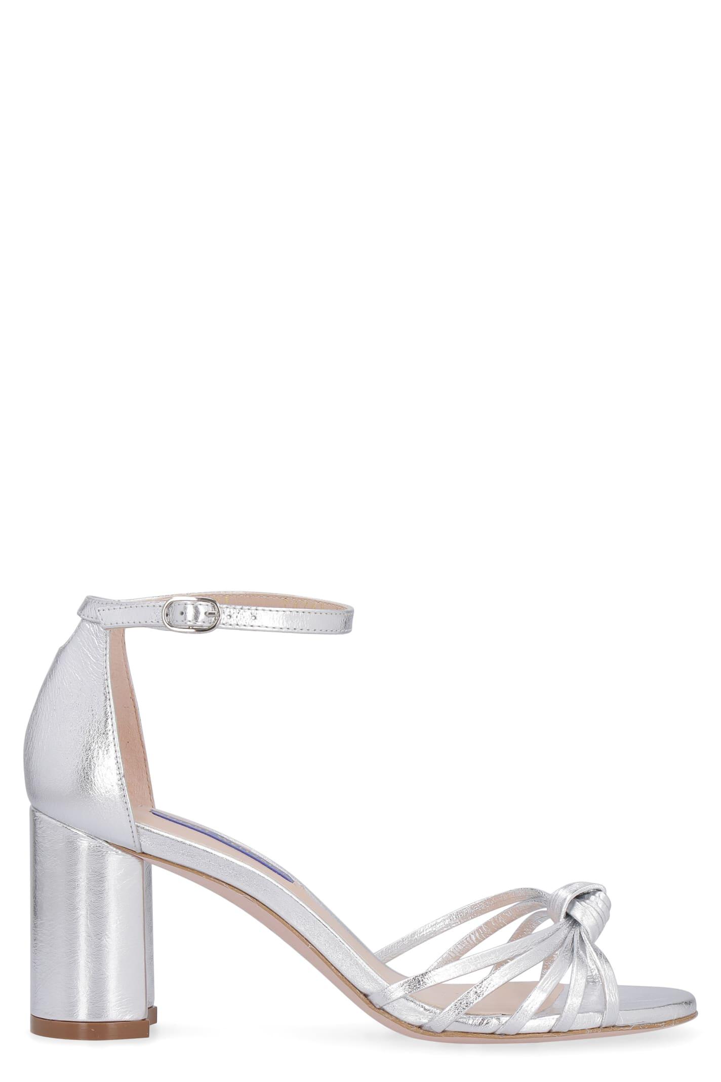 Stuart Weitzman Sutton Metallic Leather Sandals