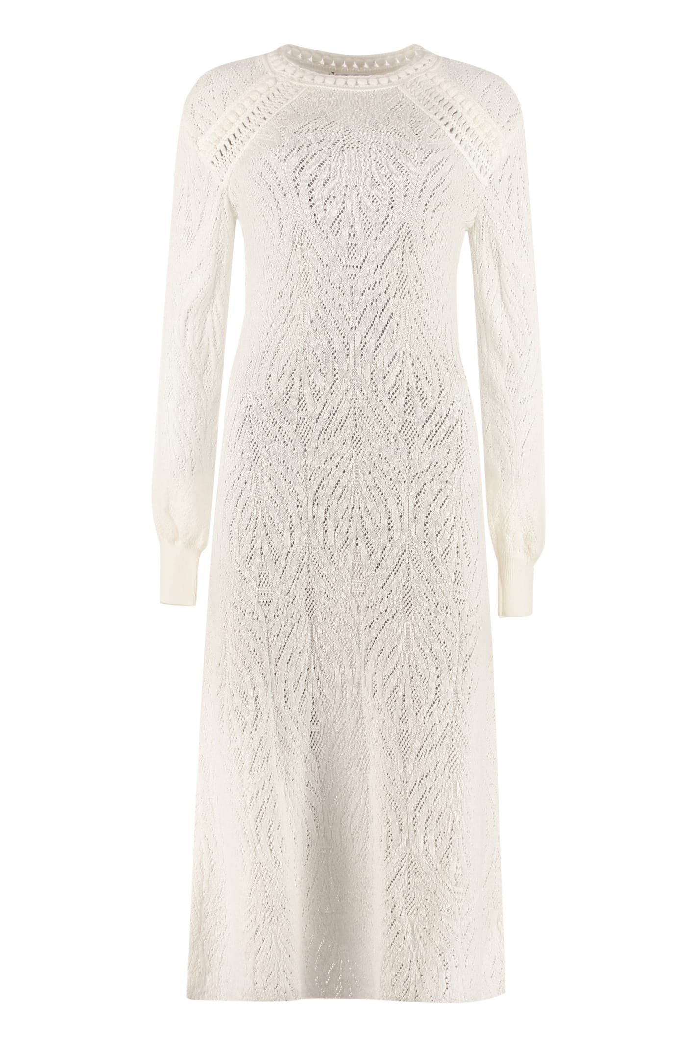 Alberta Ferretti Openwork-knit Dress