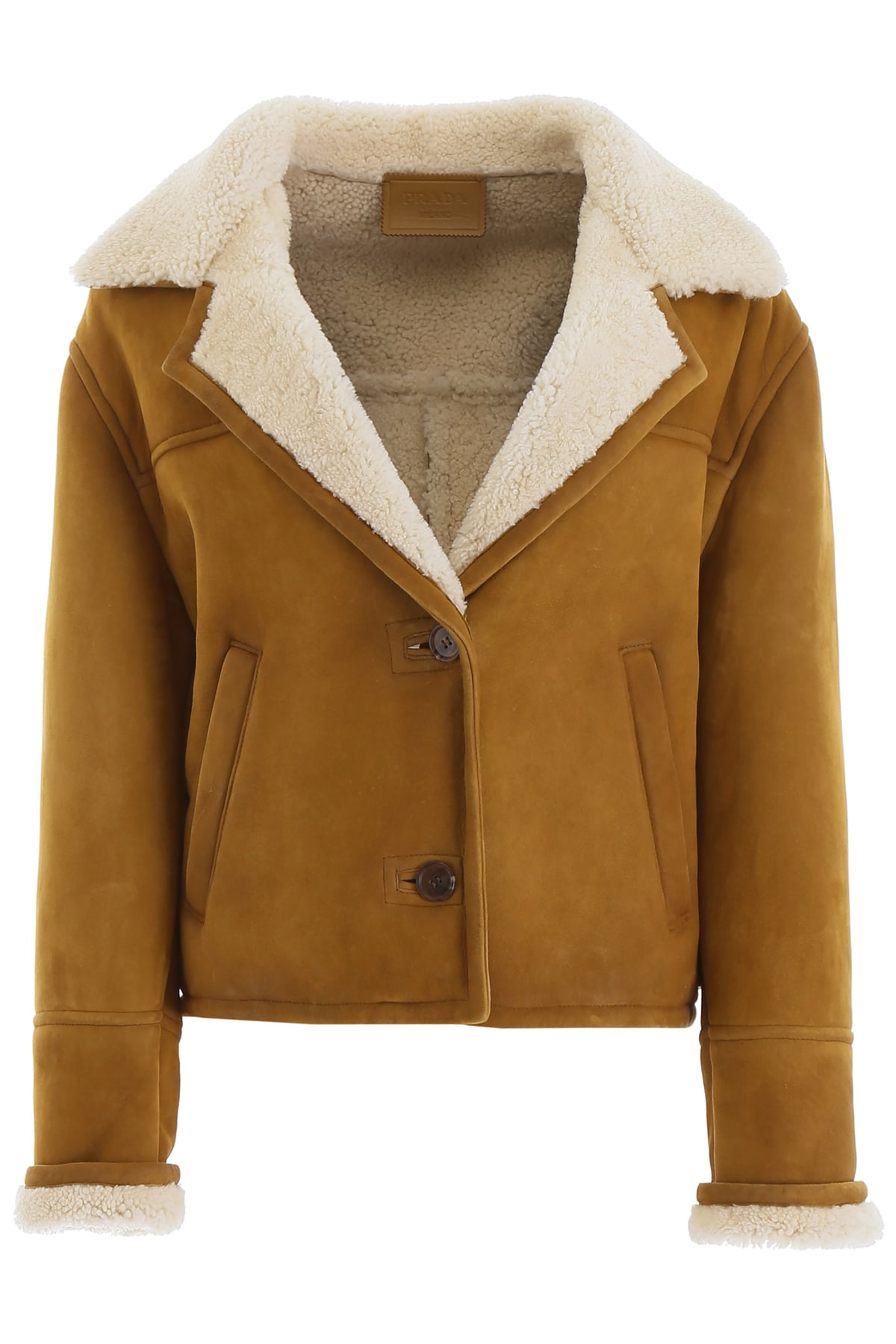 Photo of  Prada Shearling Jacket- shop Prada jackets online sales